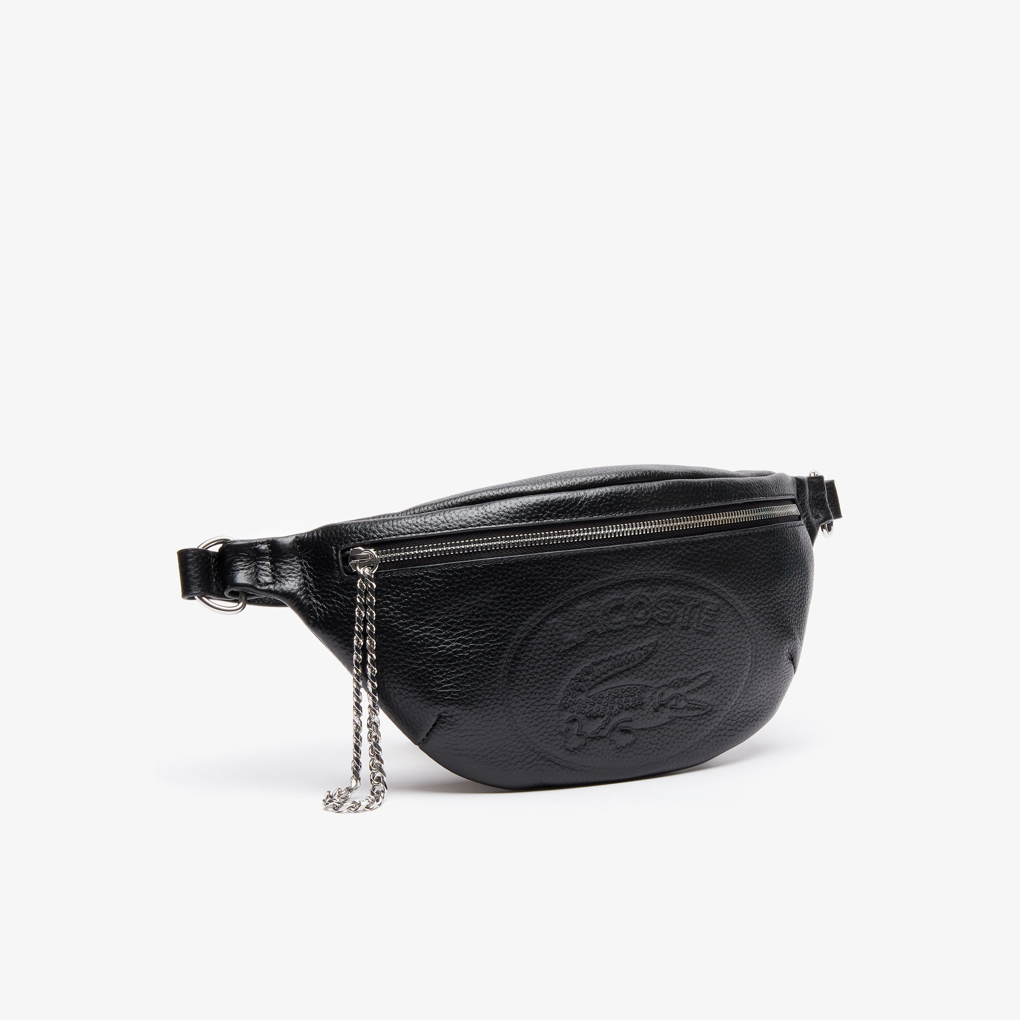 Women's Croco Crew Embossed Logo And Chain Leather Belt Bag