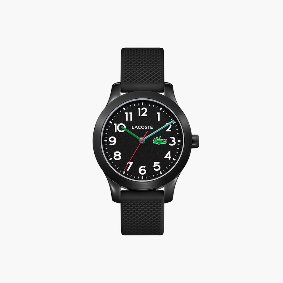 Lacoste.12.12 Kids 3 Hands Watch With Black Silicone Strap