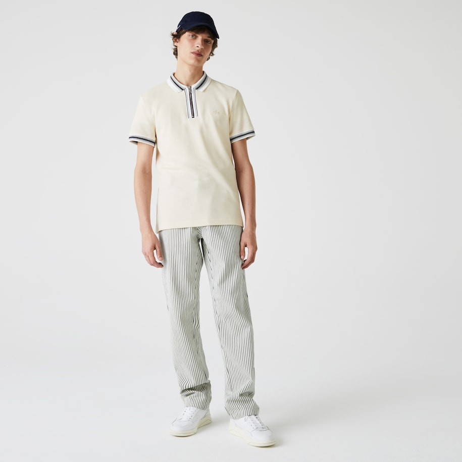 Men's Lacoste LIVE Striped Cotton Fabric Pants