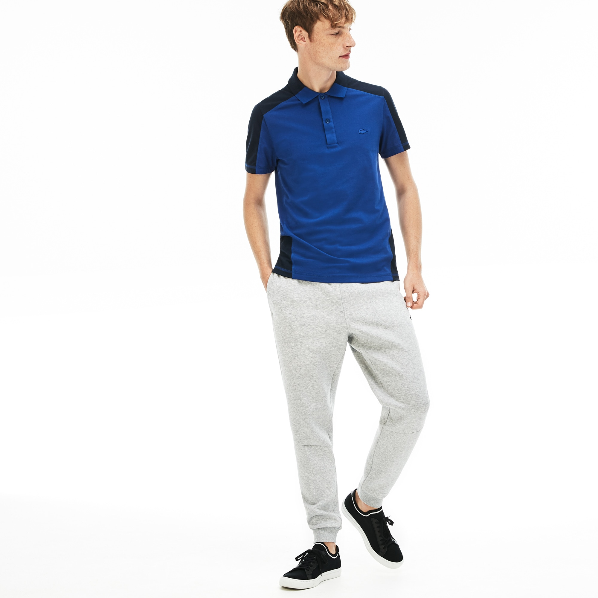Men's Lacoste Motion Regular Fit Colourblock Cotton Piqué Polo Shirt