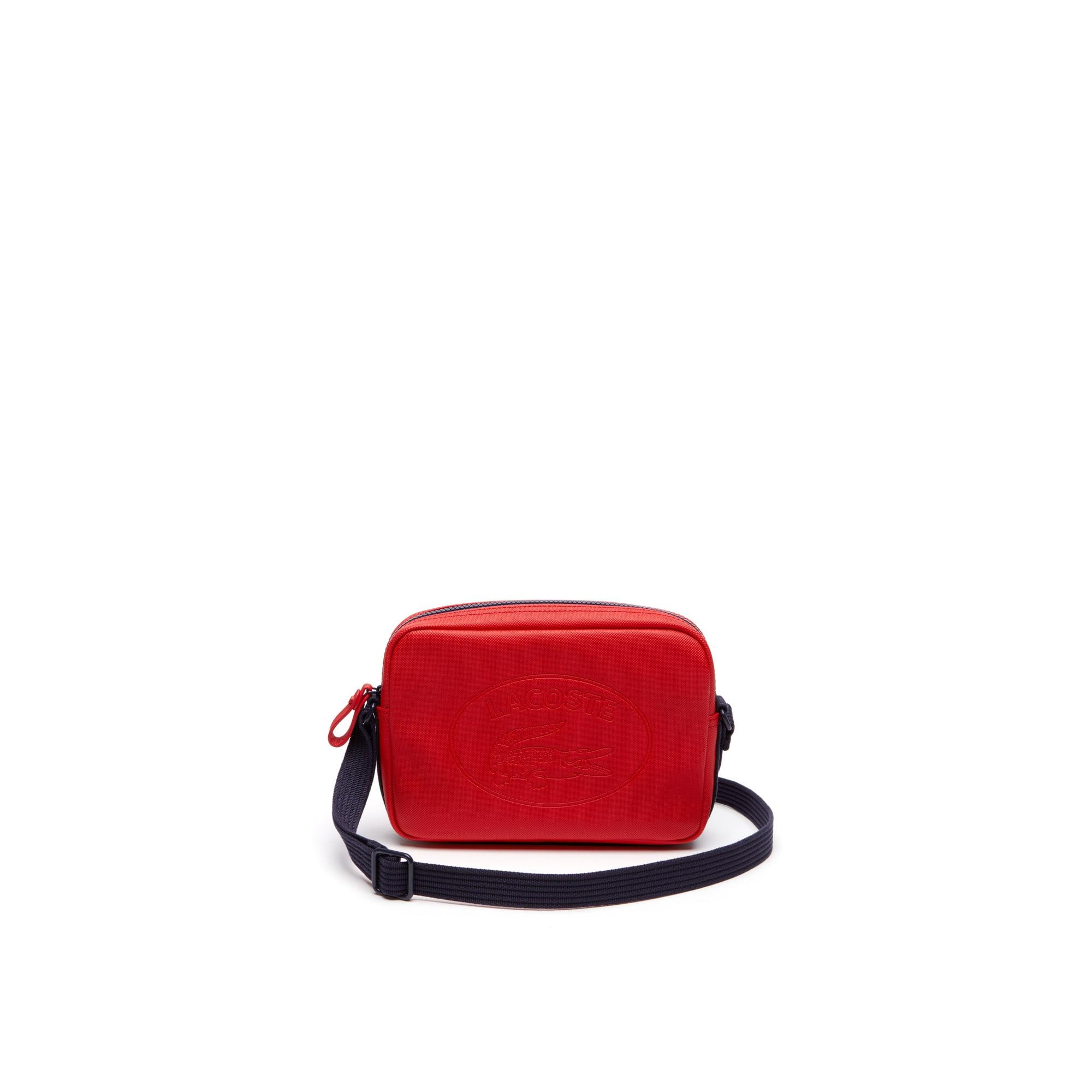 Women's Classic Coated Piqué Canvas Square Zip Crossover Bag