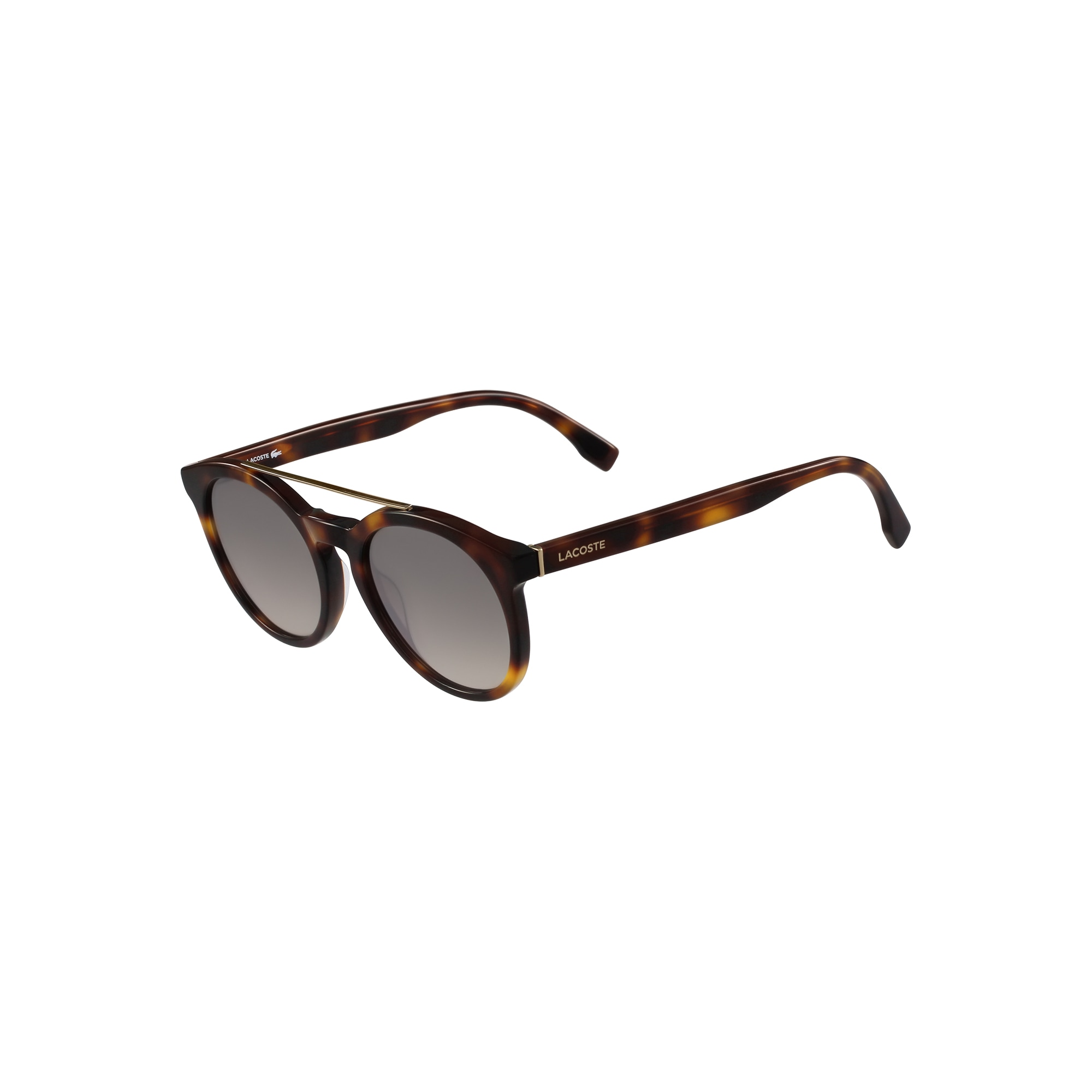 Unisex Lacoste Sunglasses with metal frames and gradient lens
