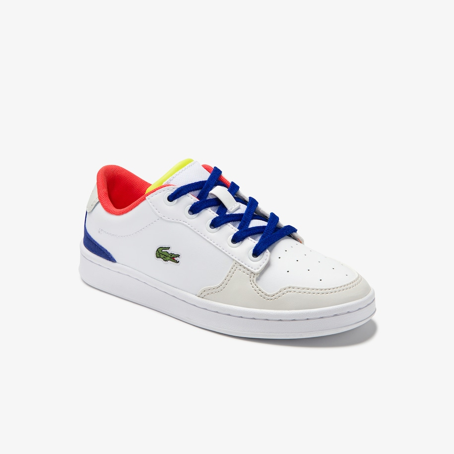 Children's Masters Cup Leather Lace-up Trainers