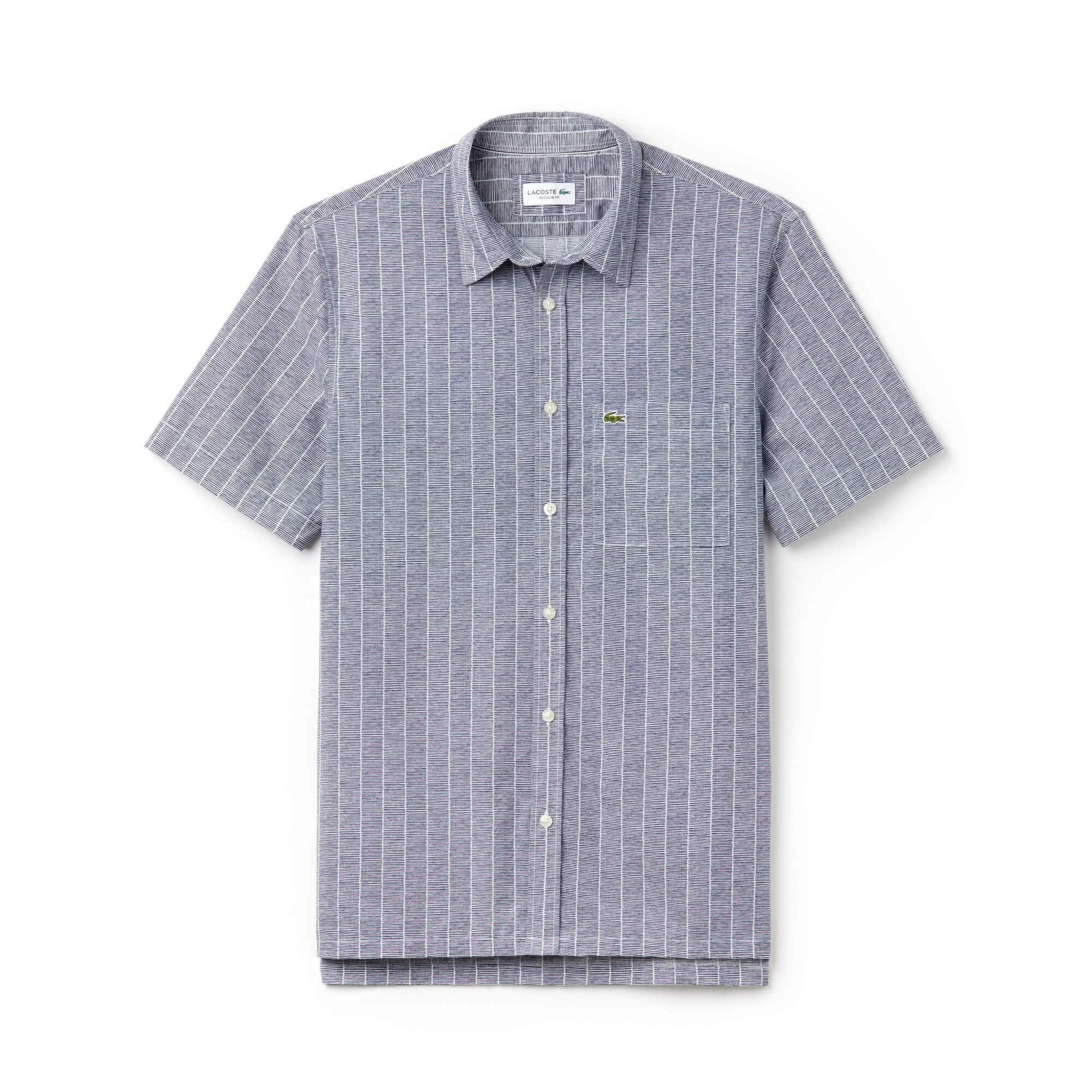 Men's Relaxed Fit Print Poplin Shirt