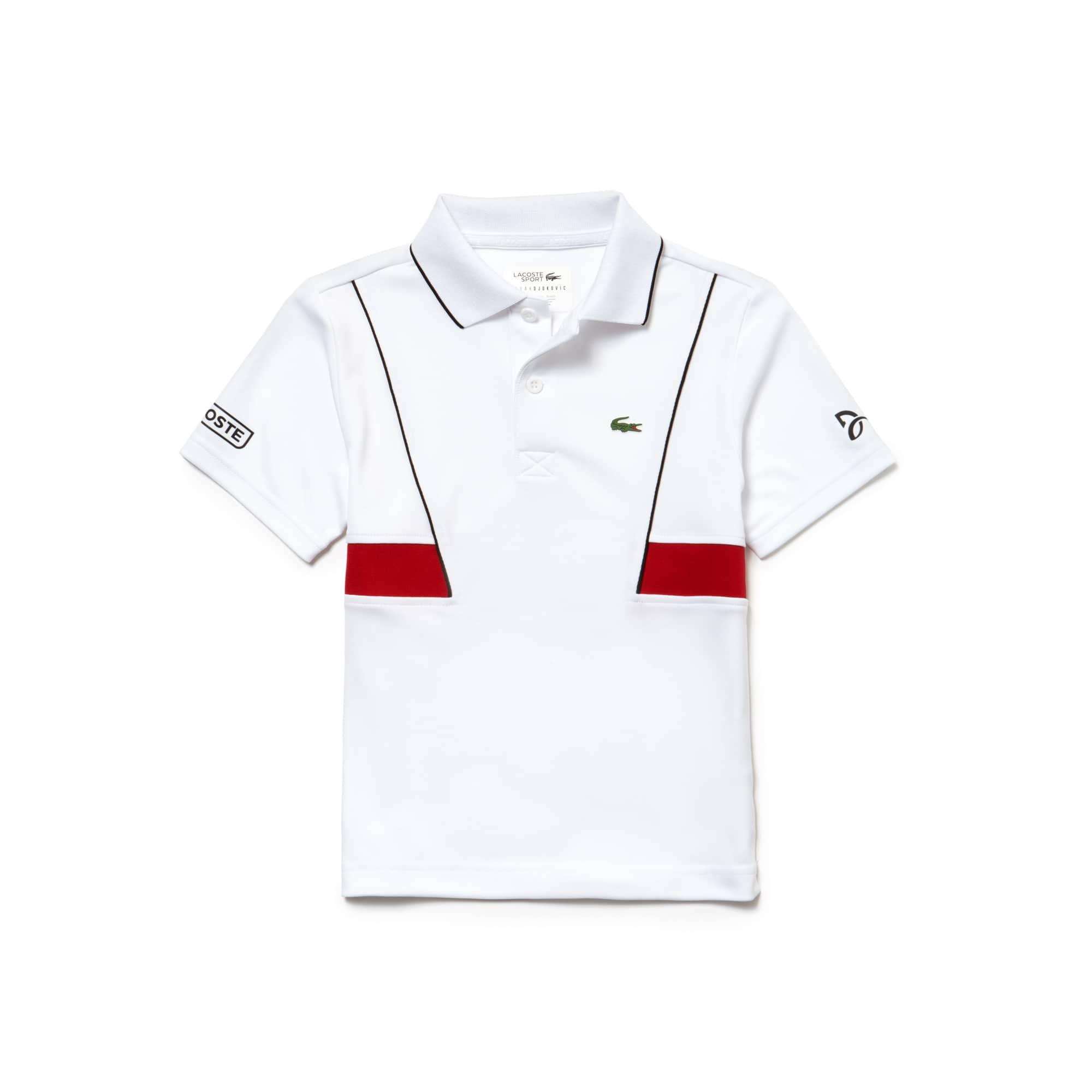 Boys' LACOSTE SPORT NOVAK DJOKOVIC COLLECTION Technical Piqué Polo Shirt