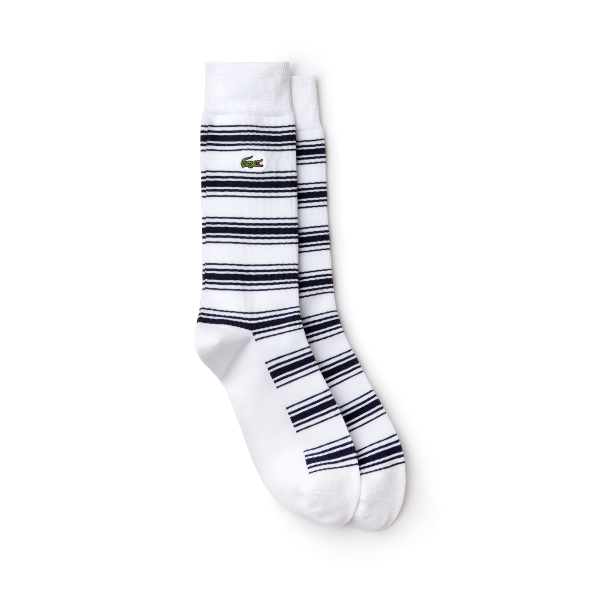 Men's Striped Stretch Cotton Jersey Socks