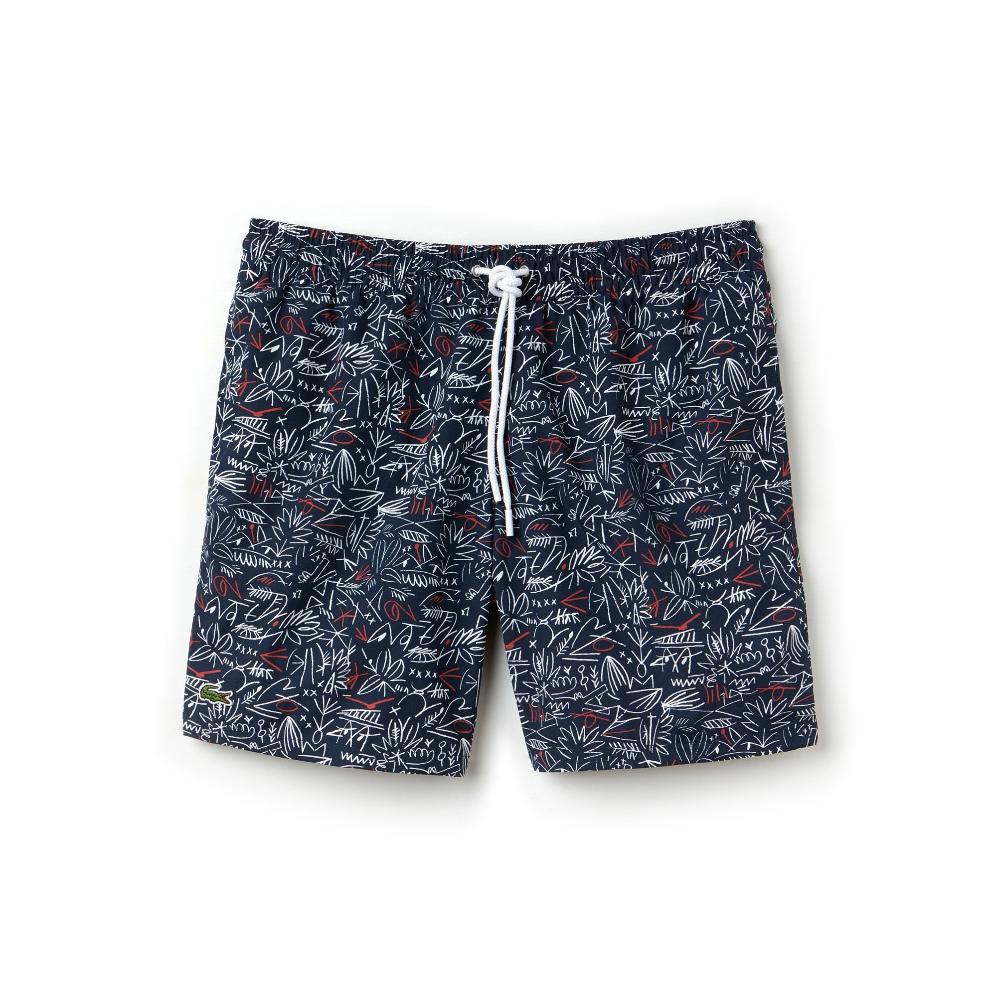Men's Flowing Print Taffeta Swimming Trunks