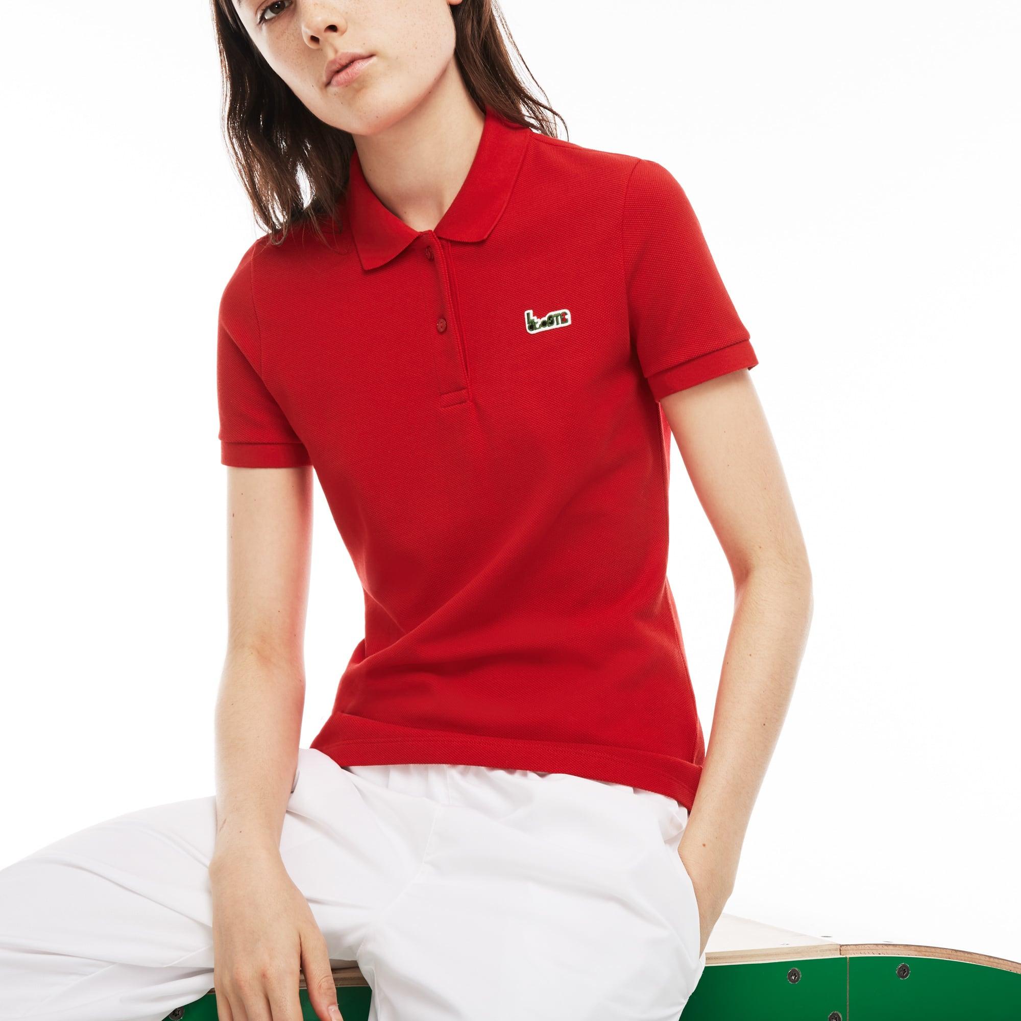 Women's Lacoste M/M Collab Slim Fit Thick Cotton Piqué Polo