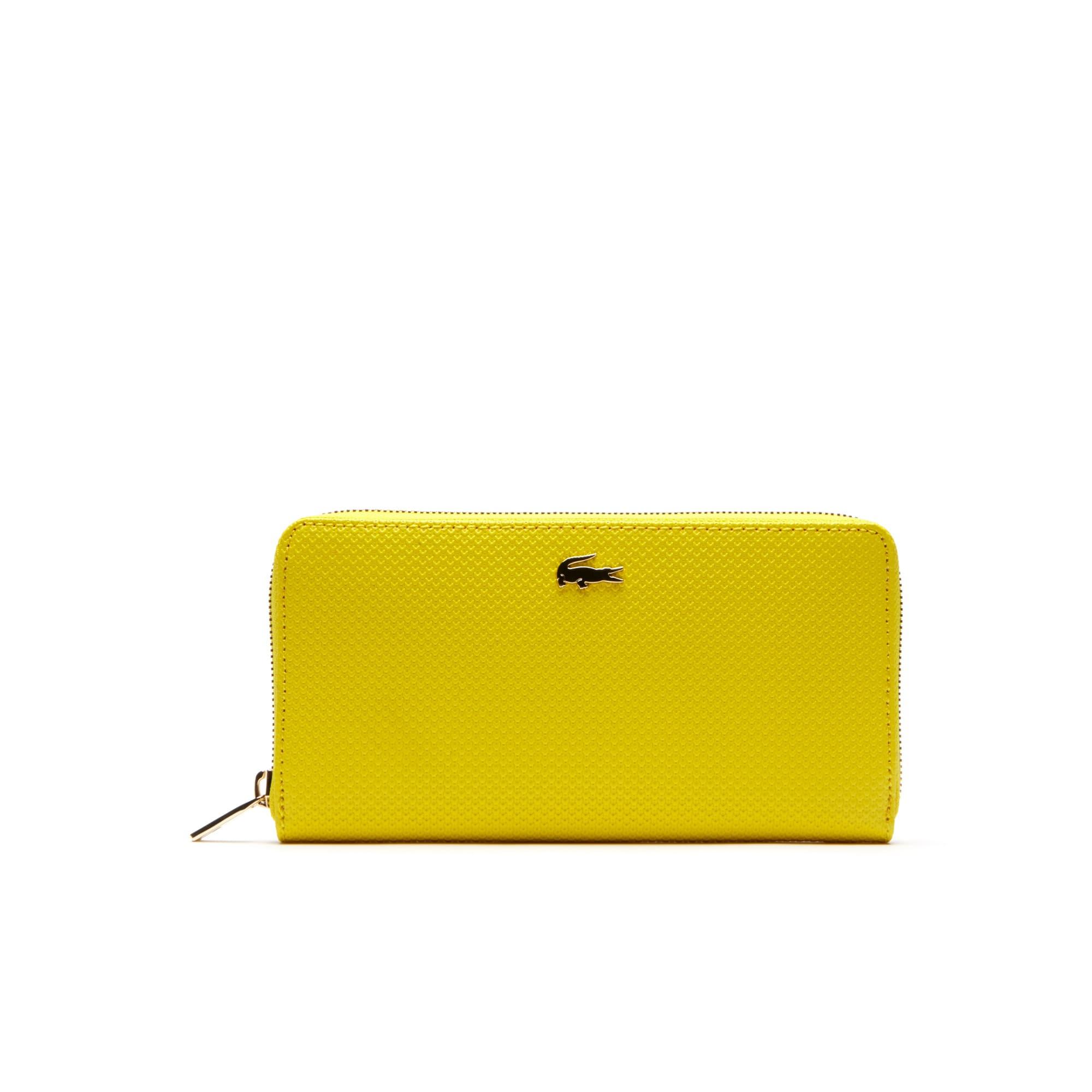 Women's Chantaco Piqué Leather Zip Wallet
