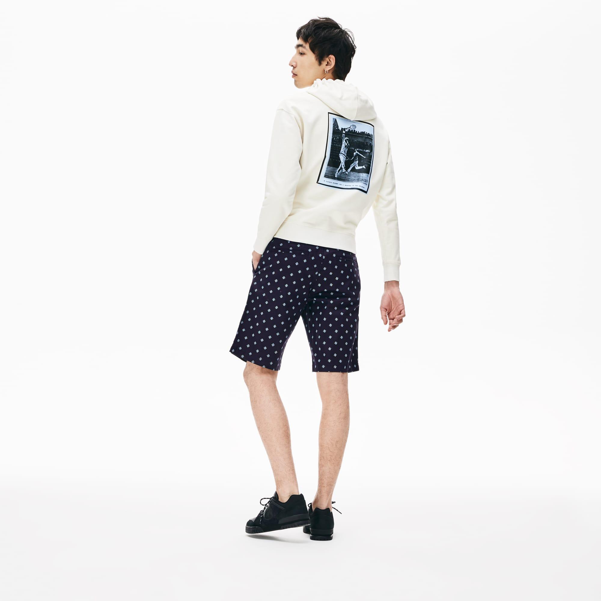 801c95ab25 Men's Lacoste LIVE Paisley Print Cotton Chino Bermuda Shorts   LACOSTE