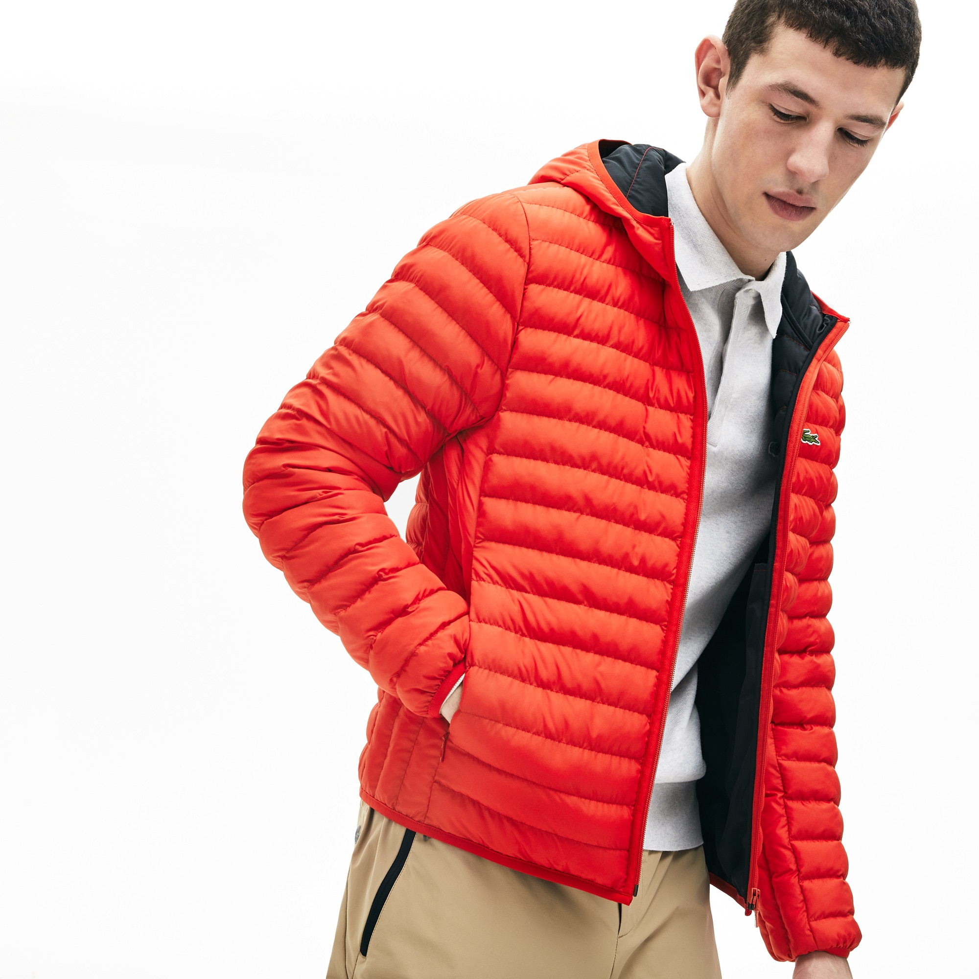 Men's Lightweight Hooded Quilted Zip Jacket