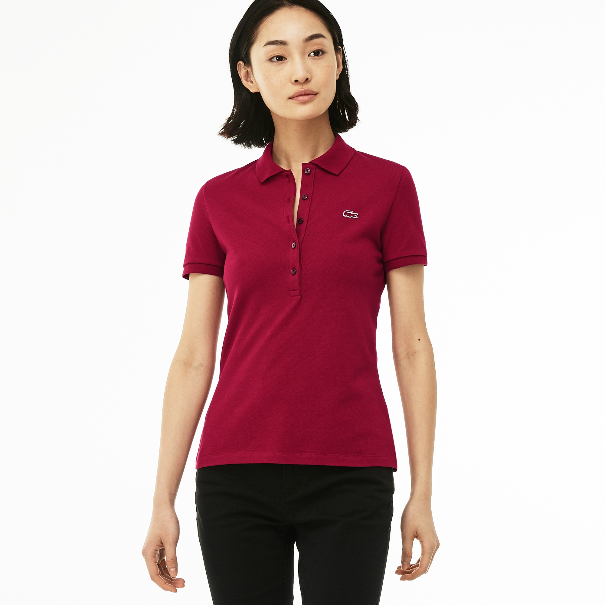 Women's Lacoste Slim Fit Stretch Mini Cotton Piqué Polo
