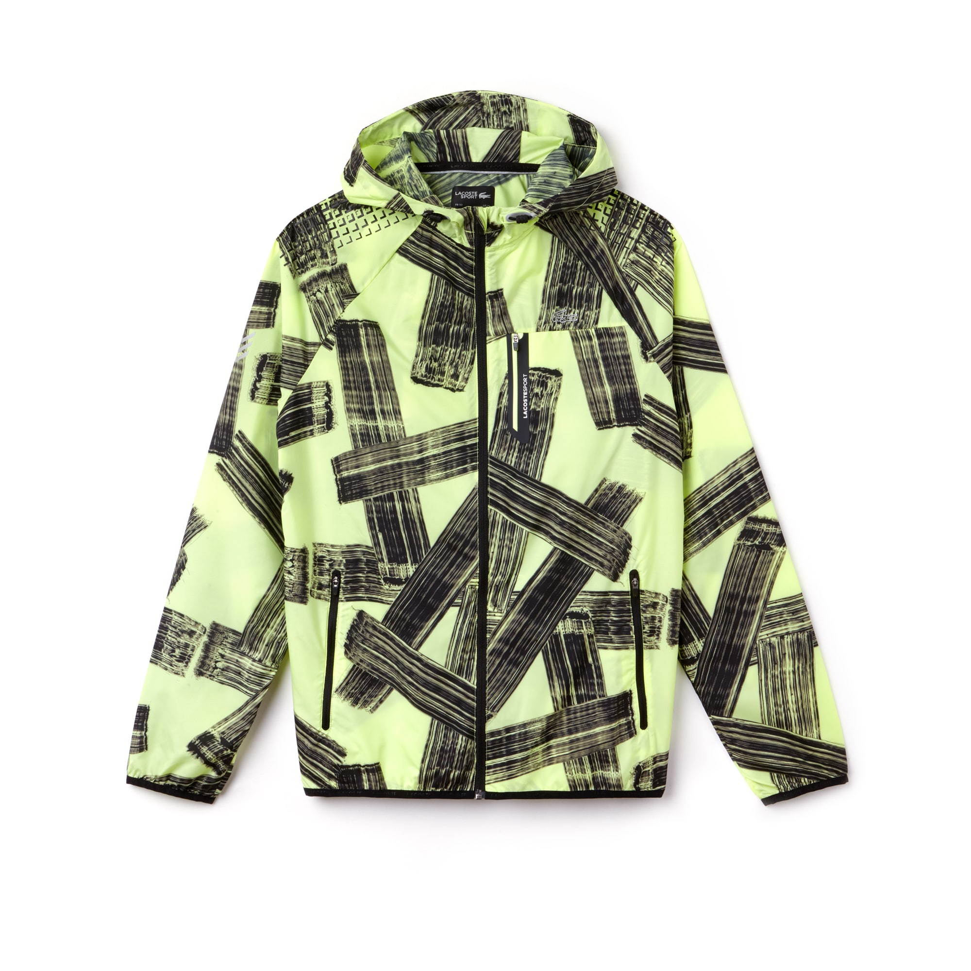 Men's Lacoste SPORT Hooded Print Tennis Jacket