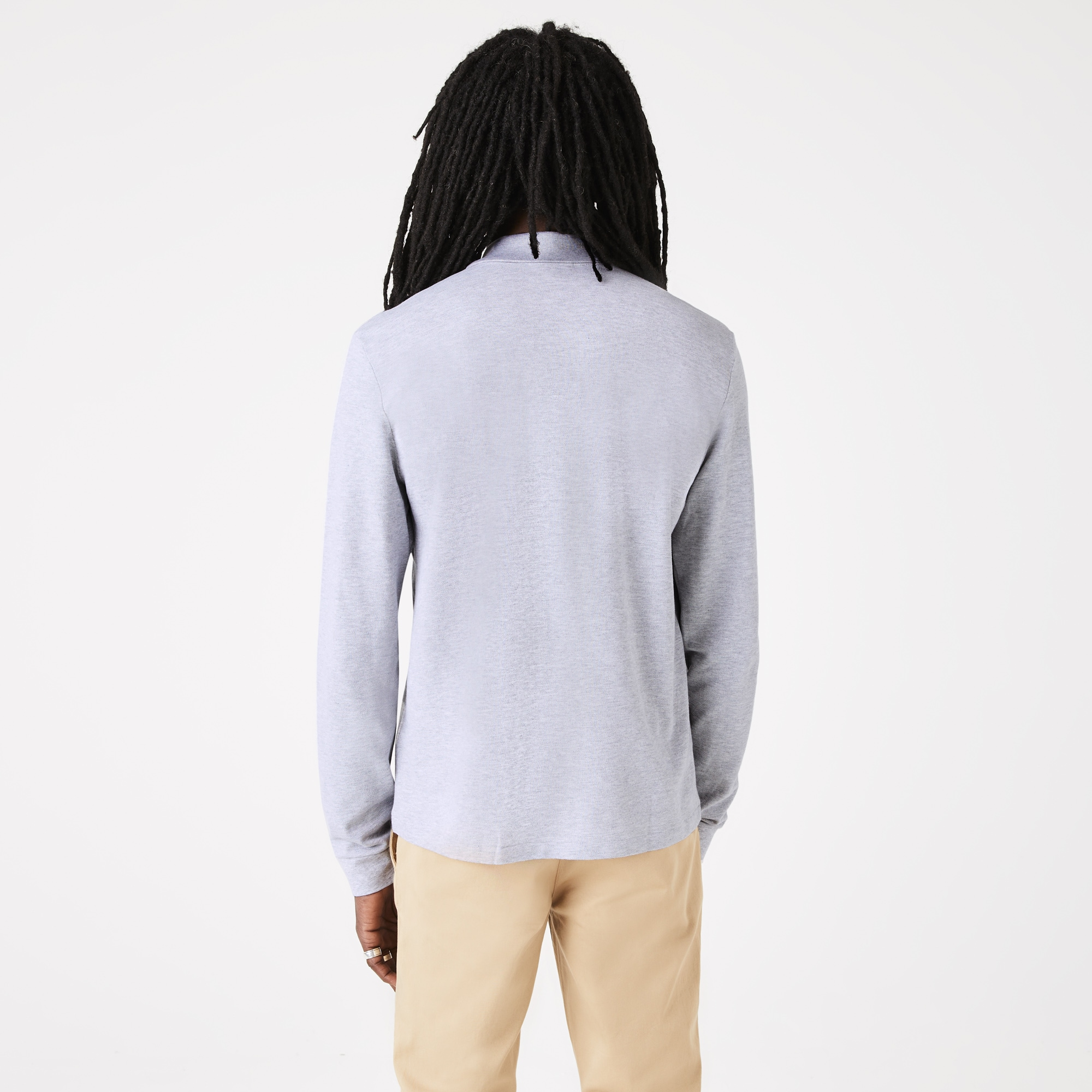bbea18f6970911 Lacoste classic fit long-sleeve Polo Shirt in marl petit piqué