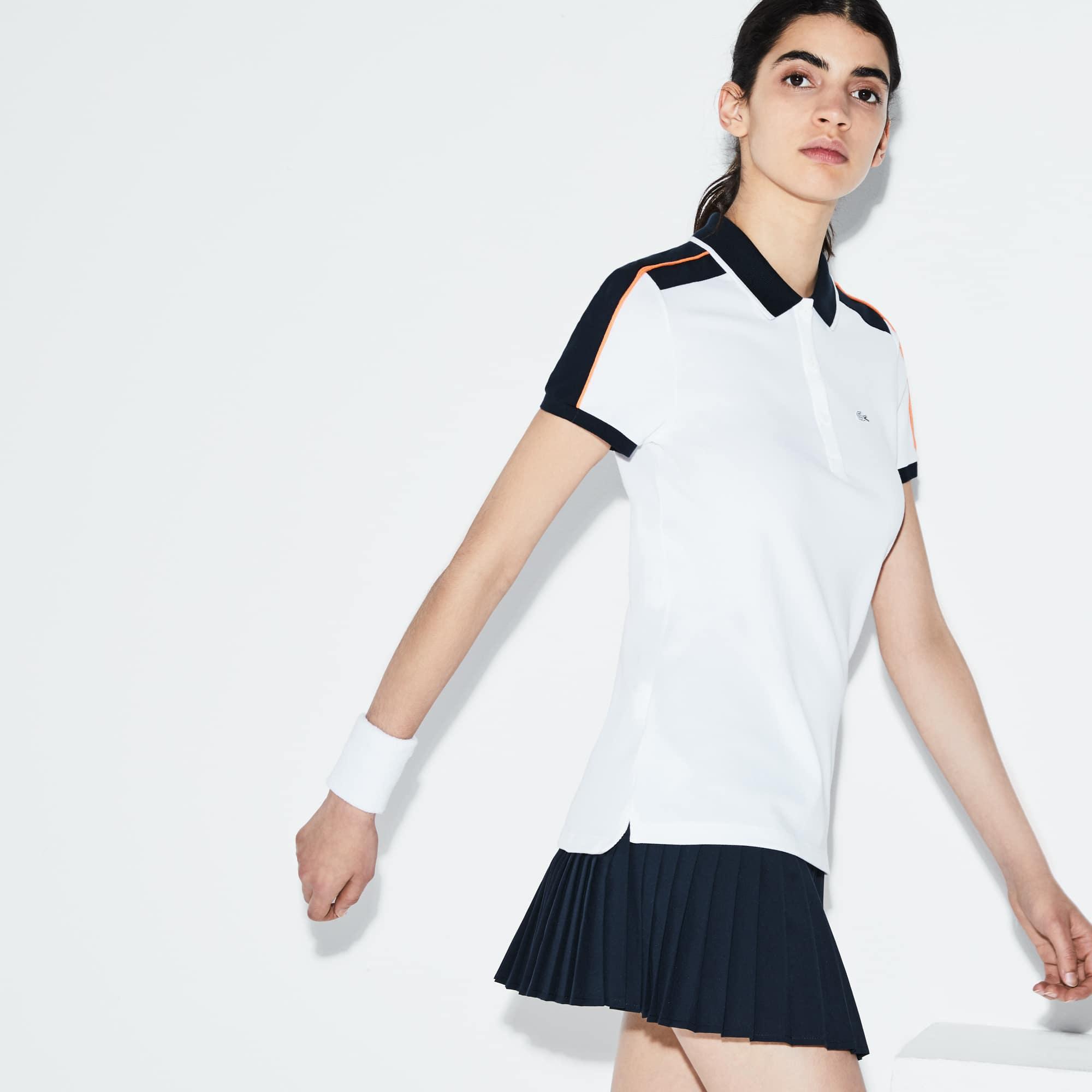 Women's Lacoste SPORT Roland Garros Edition Stretch Mini Piqué Polo Shirt
