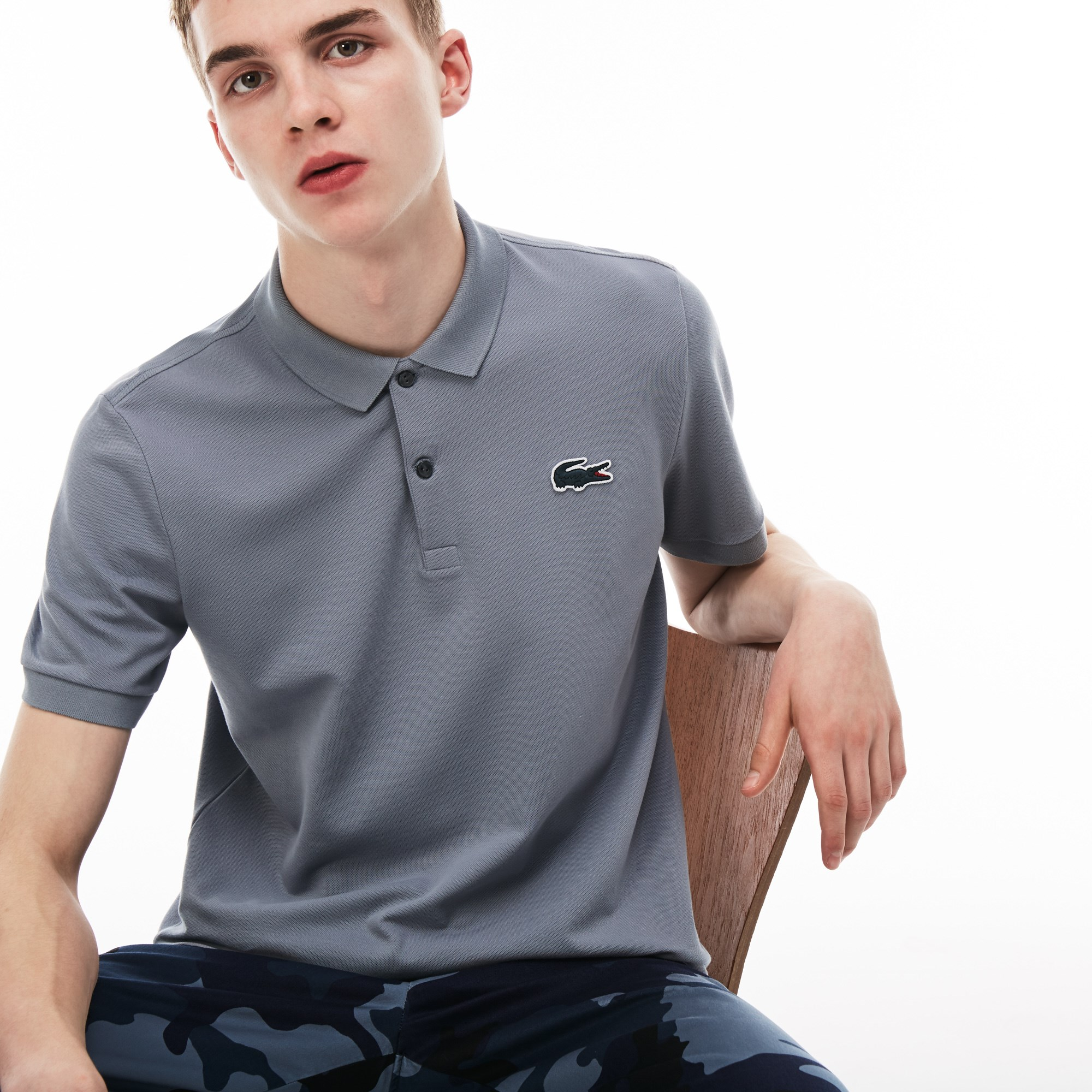 Men's Lacoste LIVE Slim Fit Stretch Mini Piqué Polo Shirt