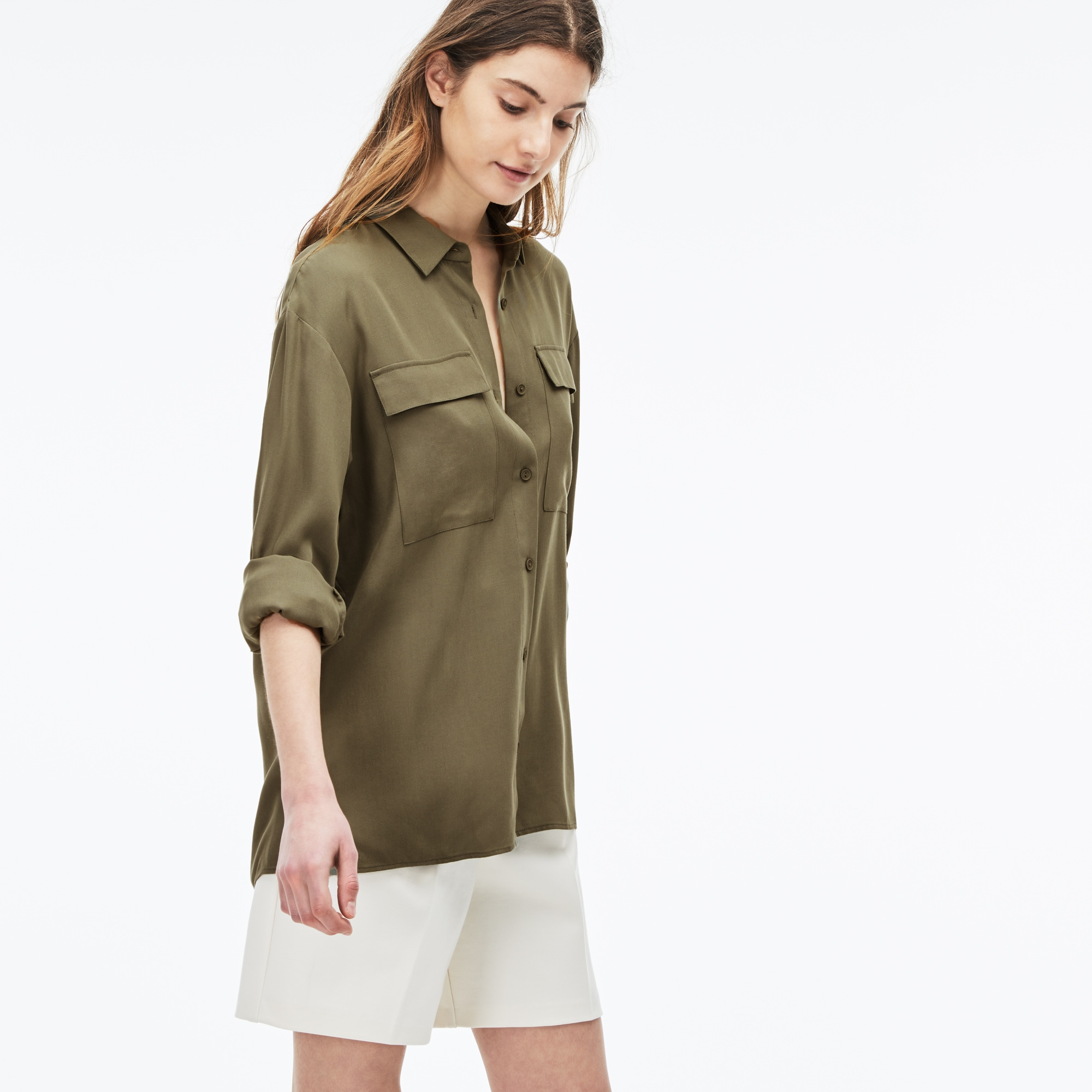 Women's Loose Fit Fluid Piqué Shirt