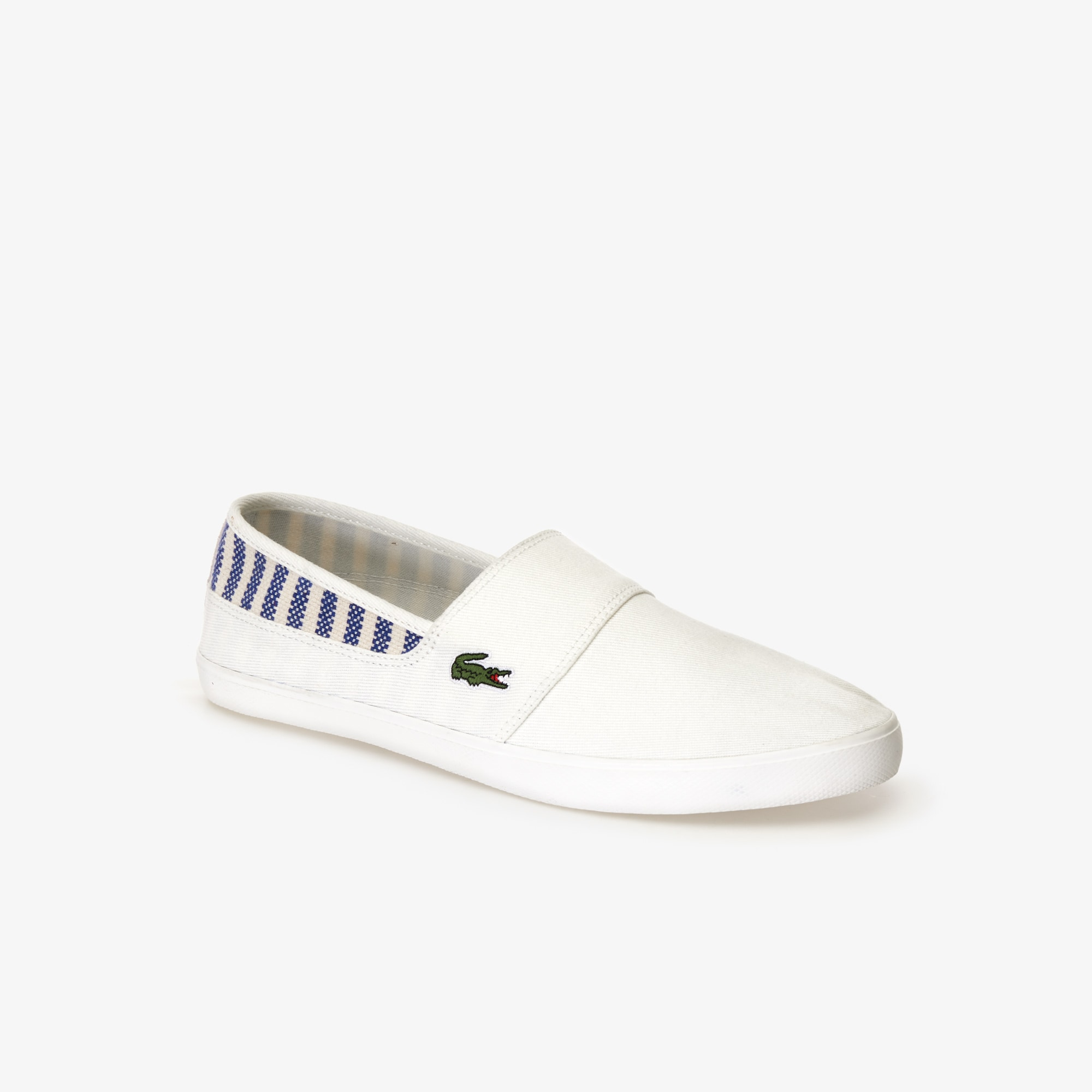c5500589209d Men s Marice Canvas Slip-ons with Green Croc