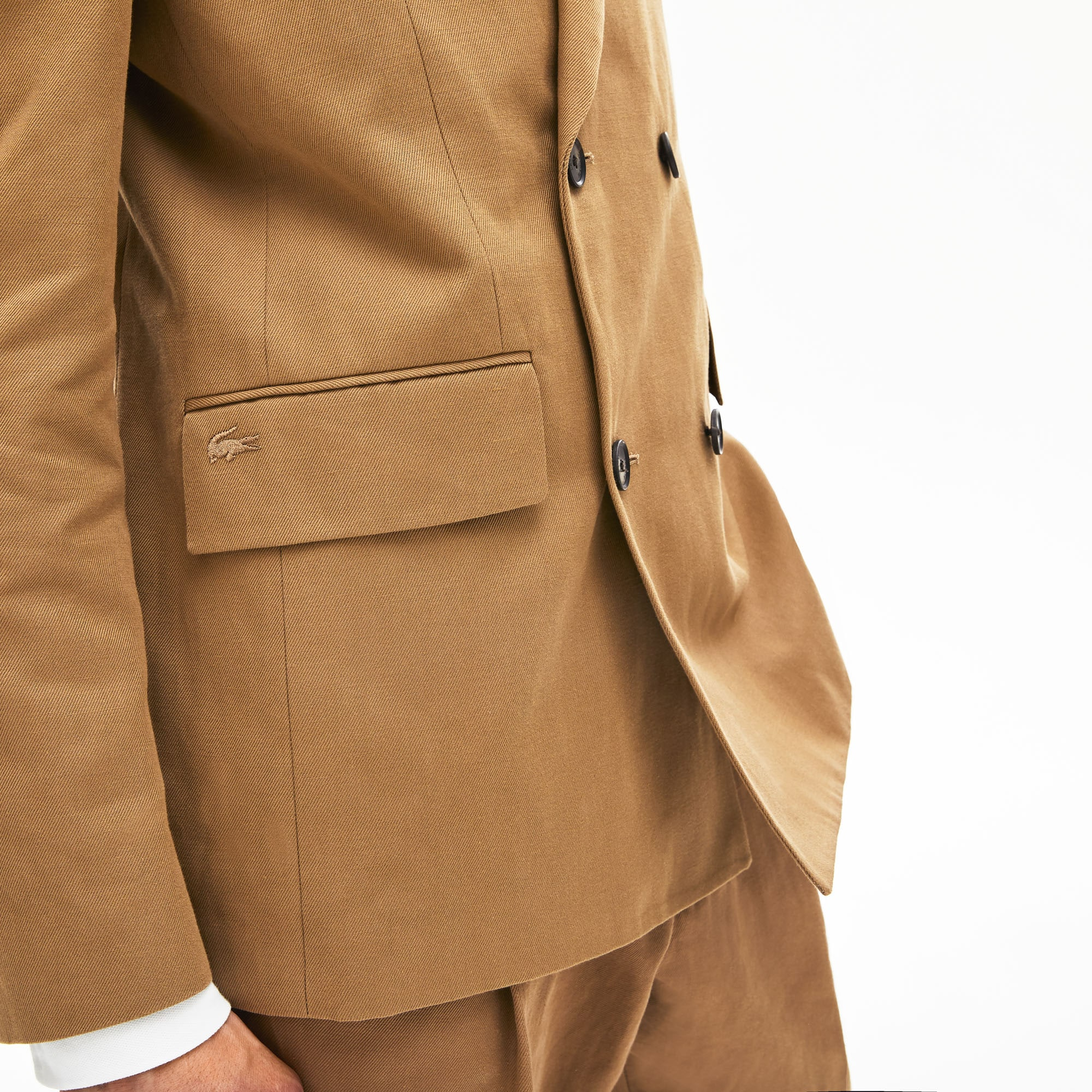 Men's Cotton-Linen Double-Breasted Jacket