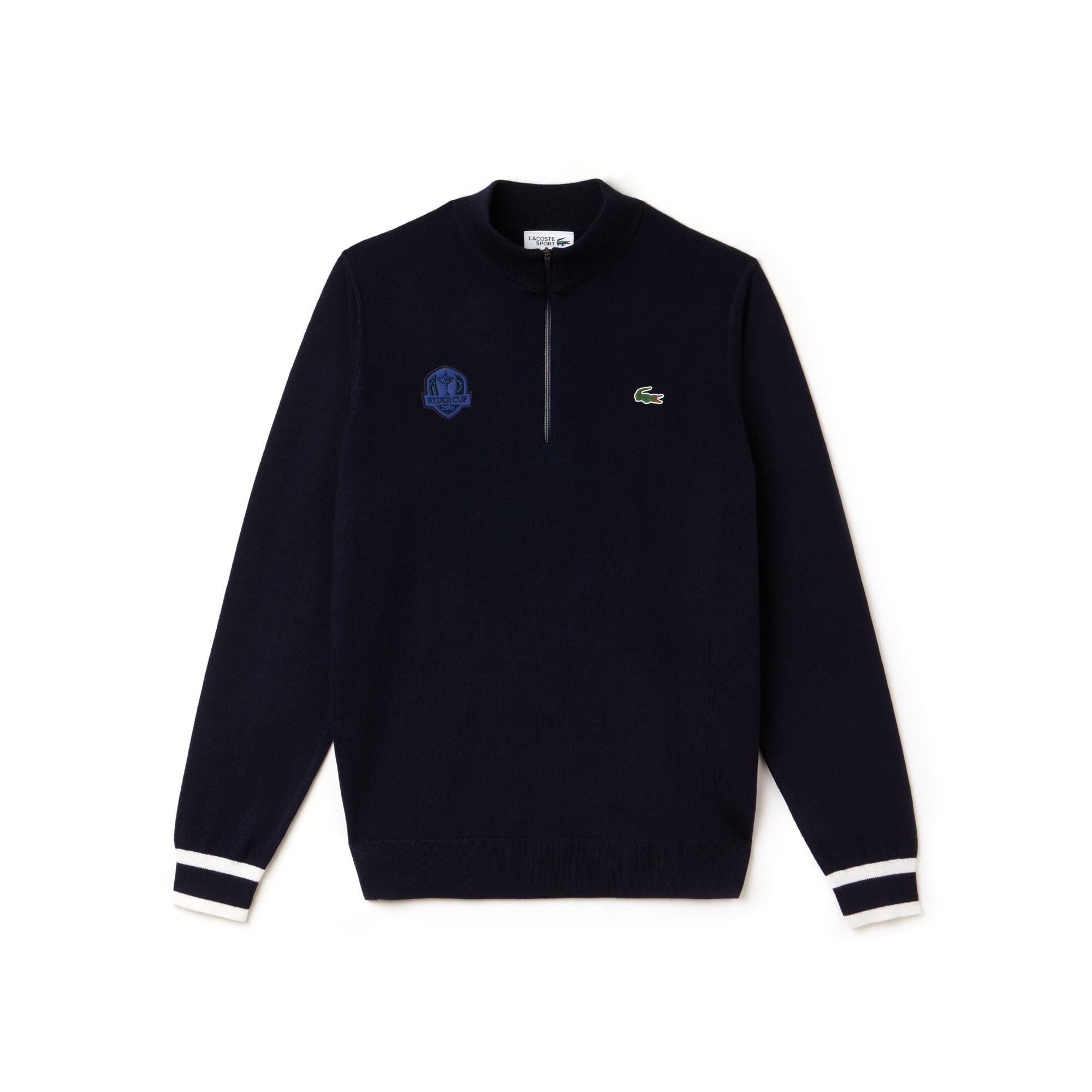 Men's Lacoste SPORT Ryder Cup Edition Zip Neck Jersey Golf Sweater