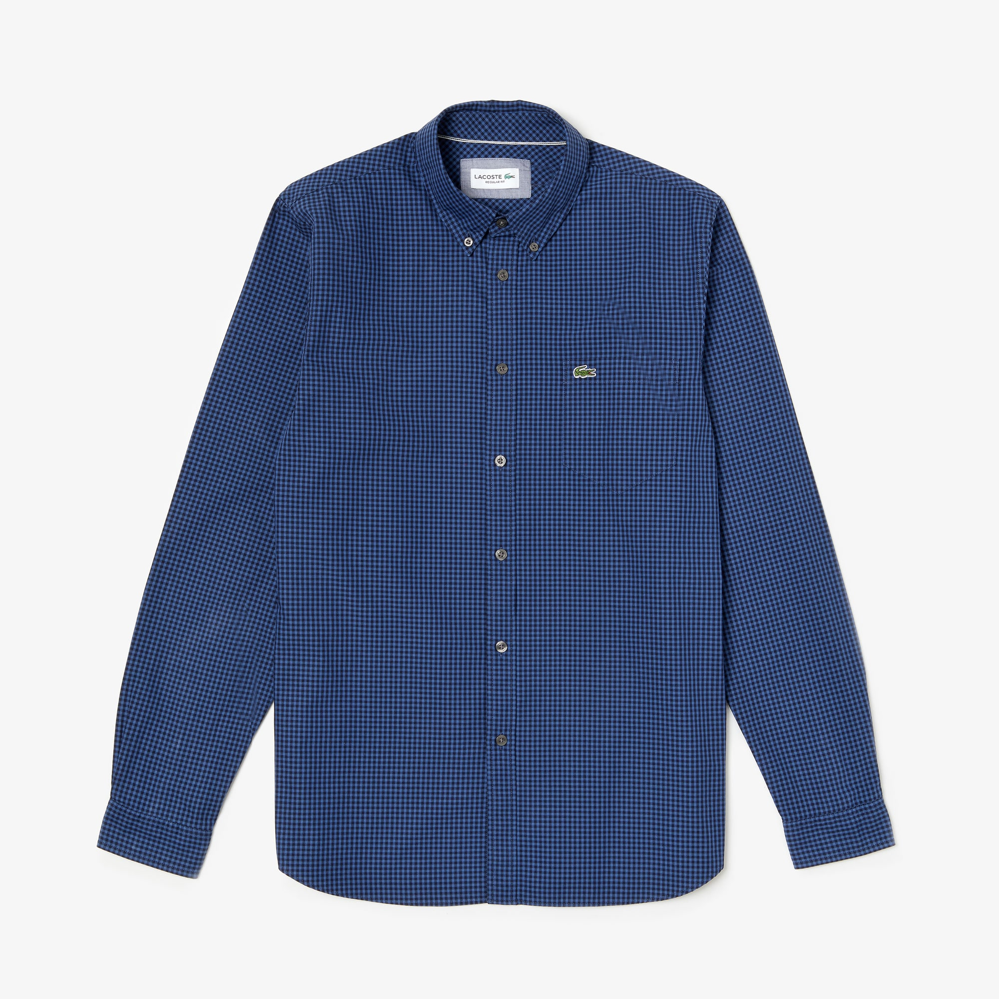 Men's Lacoste Motion Regular Fit Check Poplin Shirt