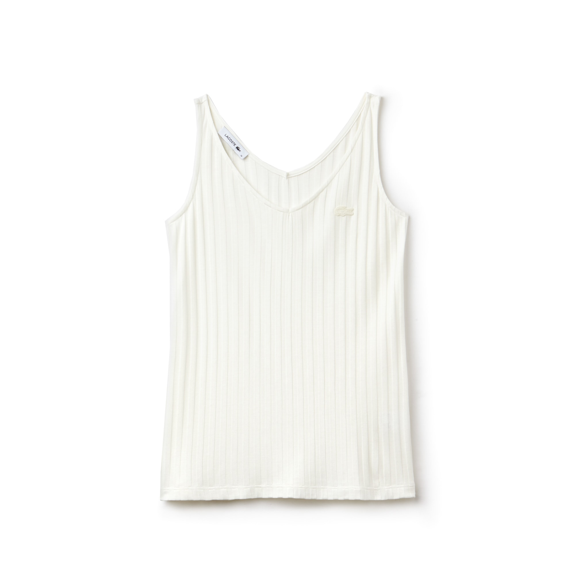 Women's V-neck Ribbed Knit Tank Top