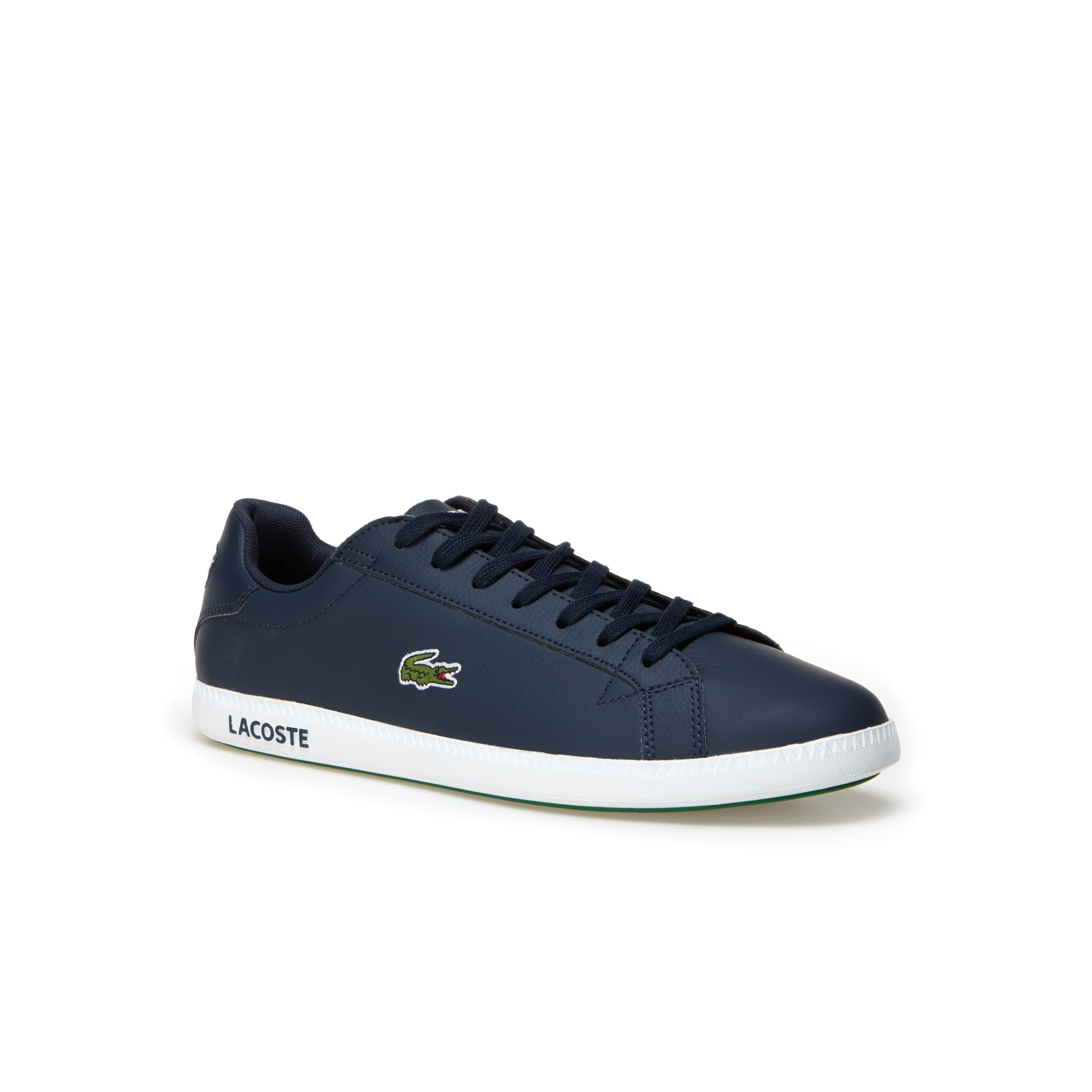 Men's Graduate low-rise trainers in leather with Lacoste branded outsole