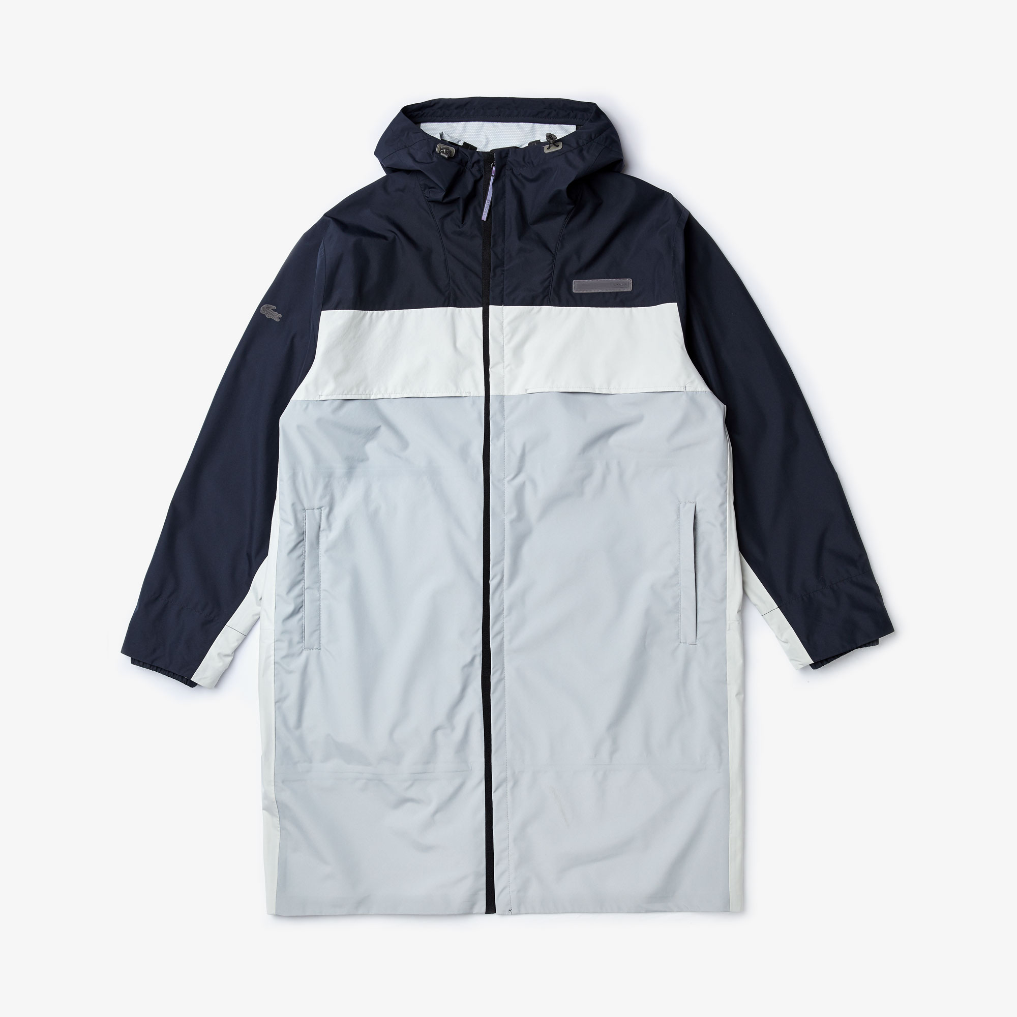 Men's Lacoste Motion Long Light Crease-Proof Water-Resistant Parka