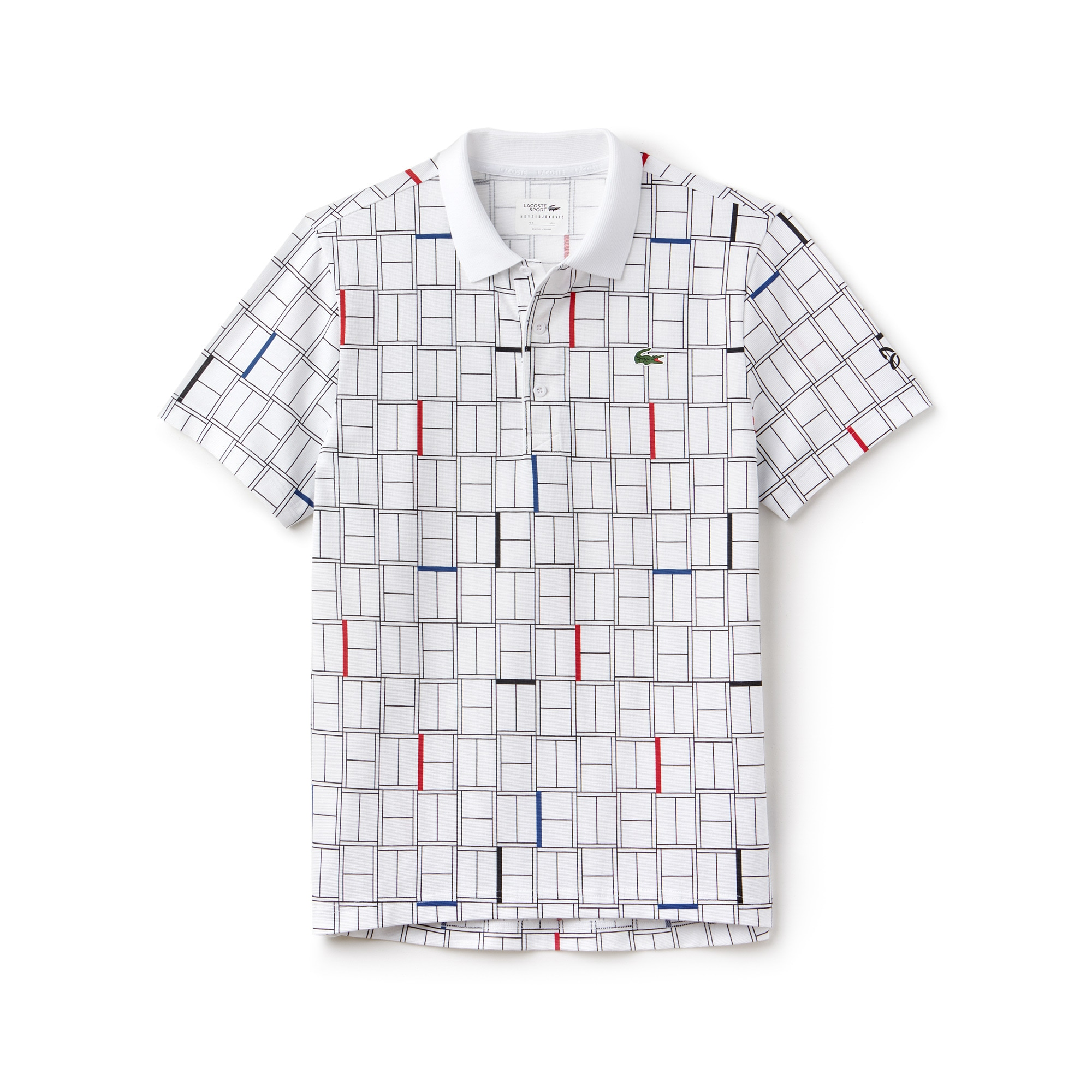 Men's LACOSTE SPORT NOVAK DJOKOVIC COLLECTION Print Ultra-Light Cotton Polo Shirt