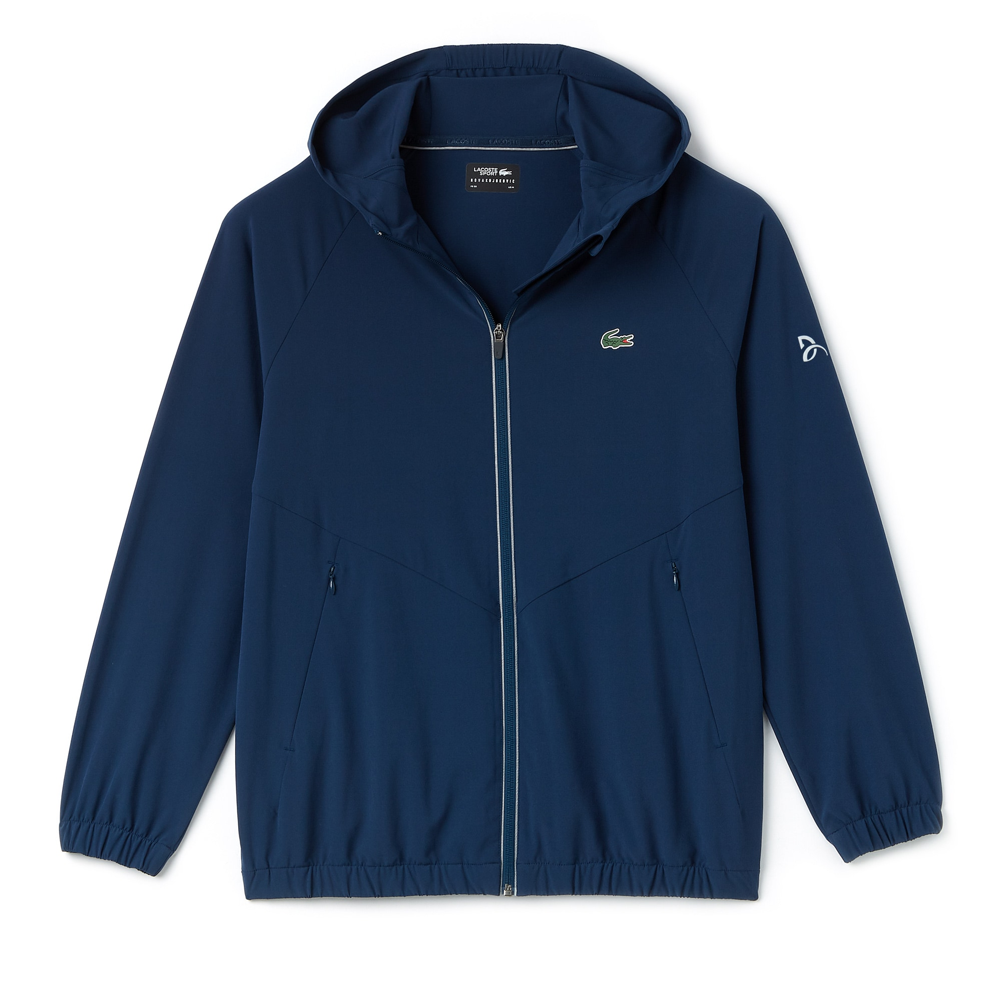 Men's Lacoste SPORT NOVAK DJOKOVIC-OFF COURT PREMIUM COLLECTION Hooded Stretch Technical Midlayer Jacket