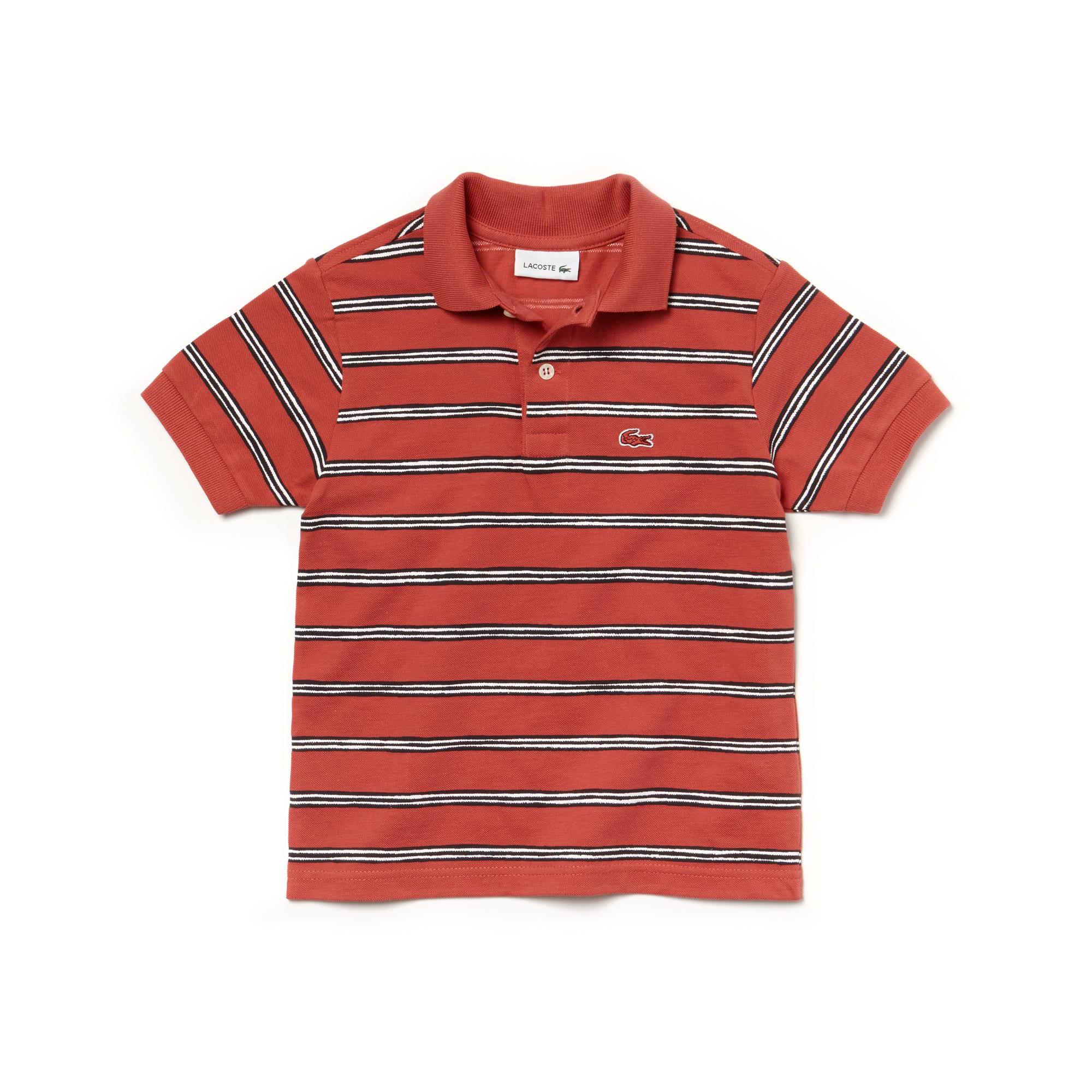 Boys' Lacoste Striped Cotton Mini Piqué Polo Shirt