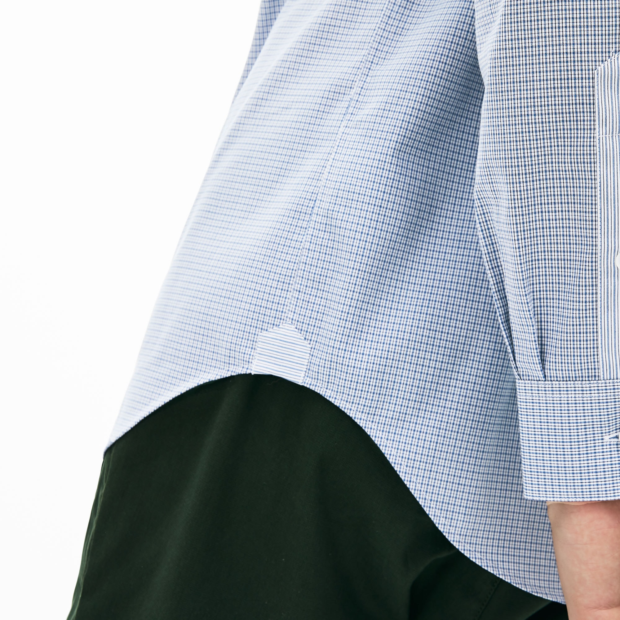 Men's Regular Fit Mini Check Poplin Shirt