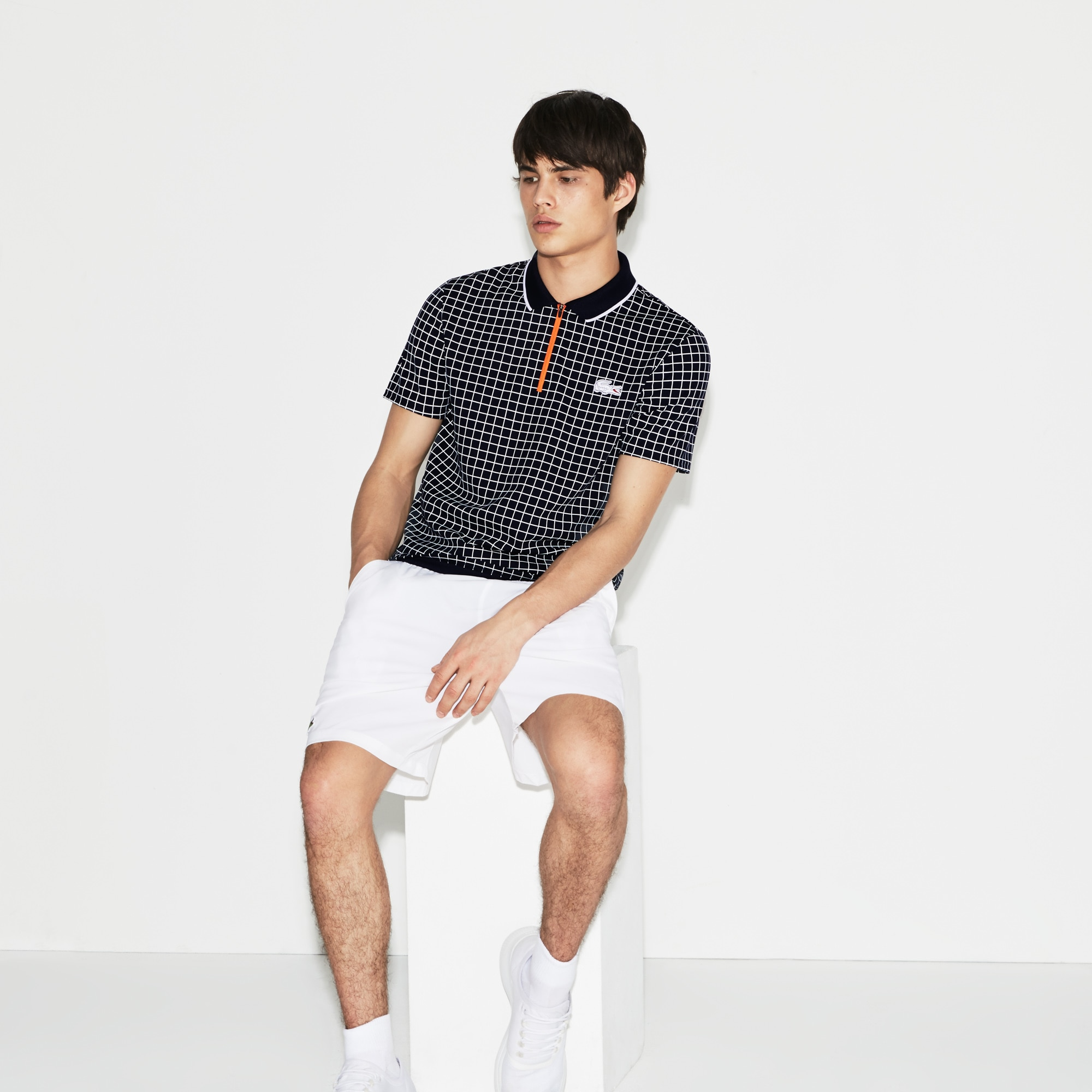 Men's Lacoste SPORT Roland Garros Edition Print Technical Piqué Polo Shirt