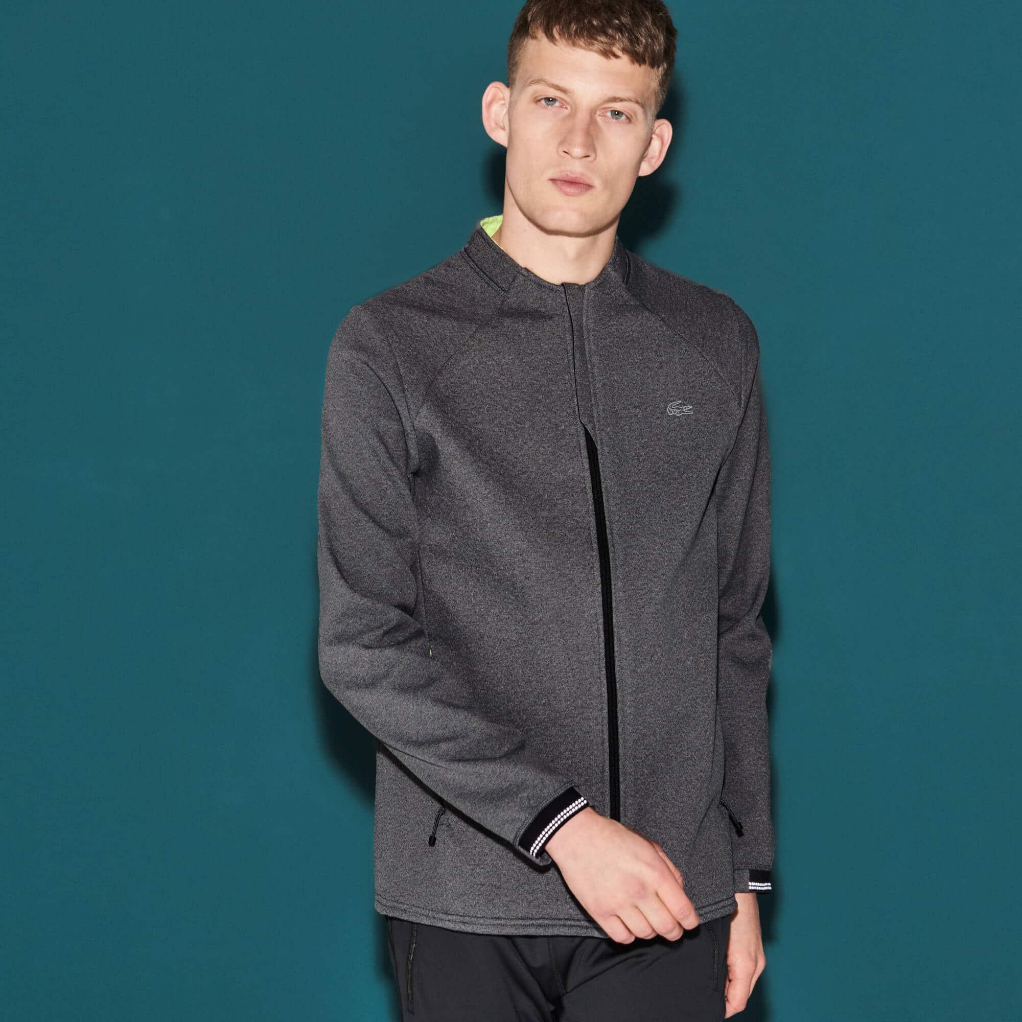 Men's Lacoste SPORT Fleece Midlayer Zip Tennis Sweatshirt