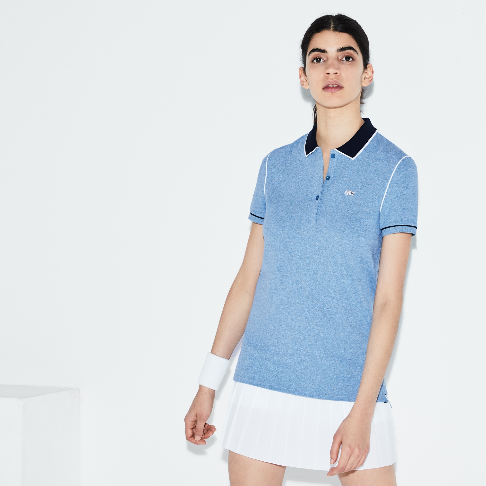 Women's Lacoste SPORT Roland Garros Edition Stretch Mini Piqué Polo Shirt