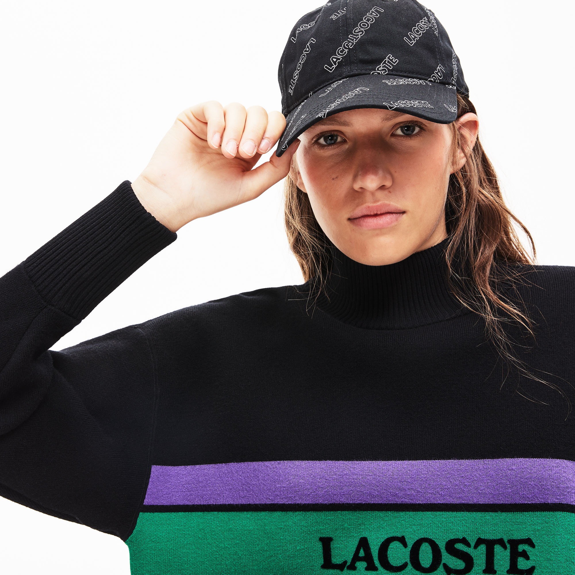 Women's Lacoste LIVE Vintage Striped Sweater
