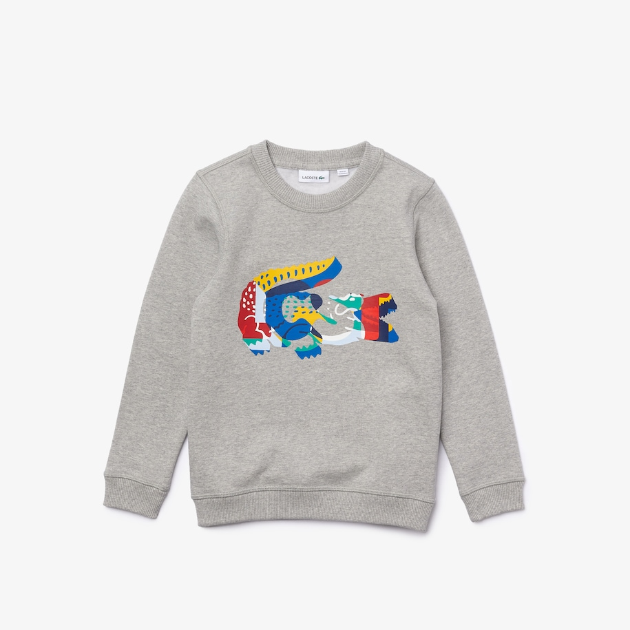 Boys' Multicolour Crocodile Print Fleece Sweatshirt