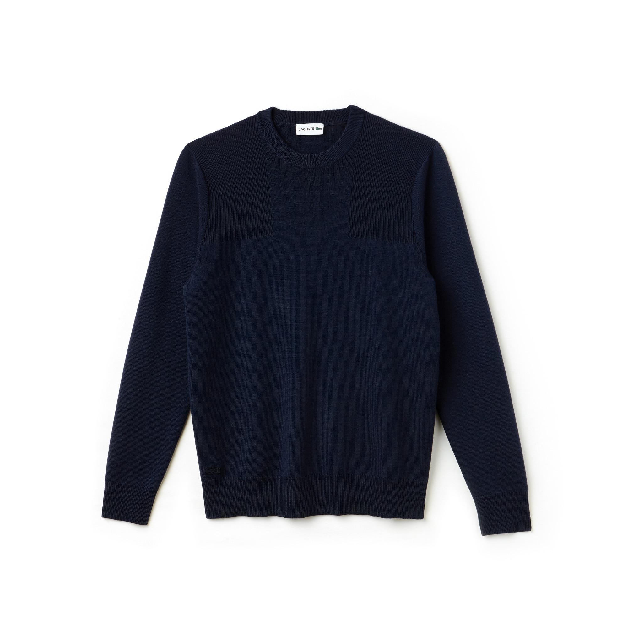 Men's Crew Neck Technical Knit Sweater
