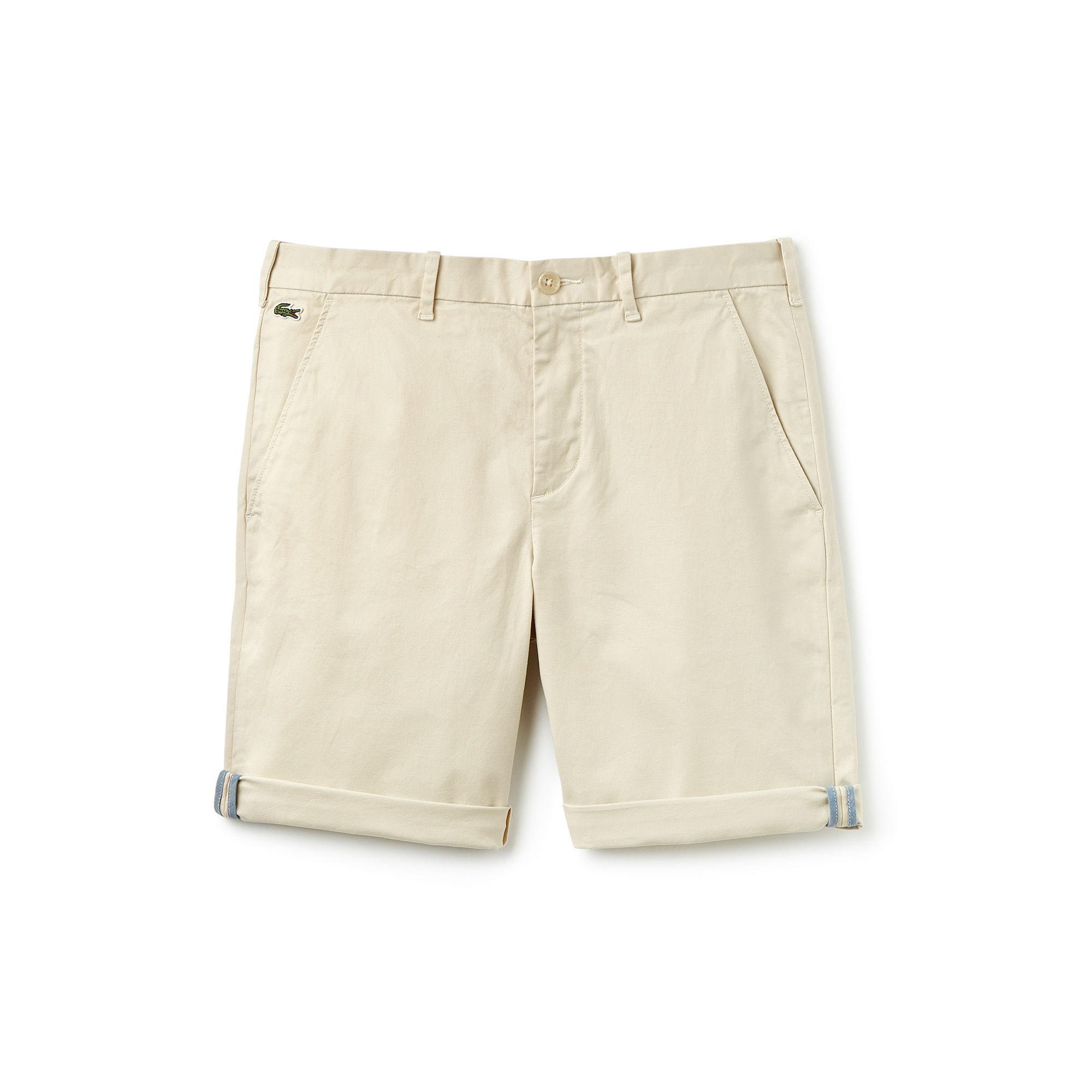 Men's Lacoste LIVE Stretch Cotton Twill Chino Cut Bermuda Shorts