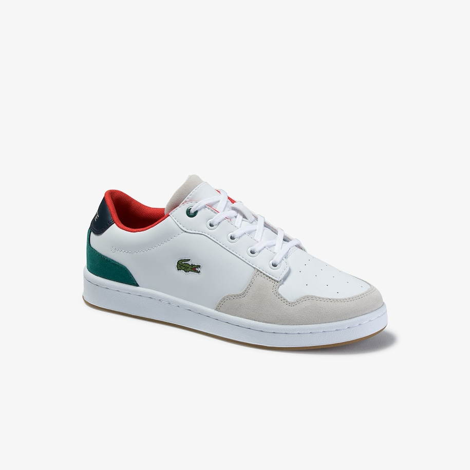 Juniors' Masters Cup Metallic Leather Trainers