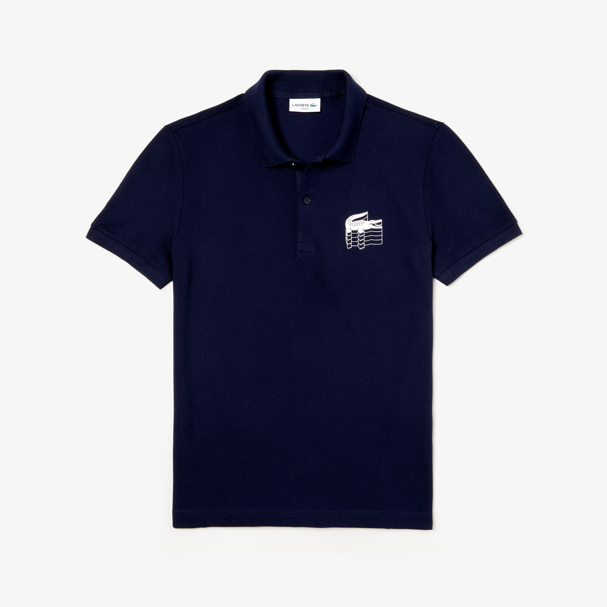 Men's Lacoste Slim Fit 3D Croc Cotton Petit Piqué Polo Shirt