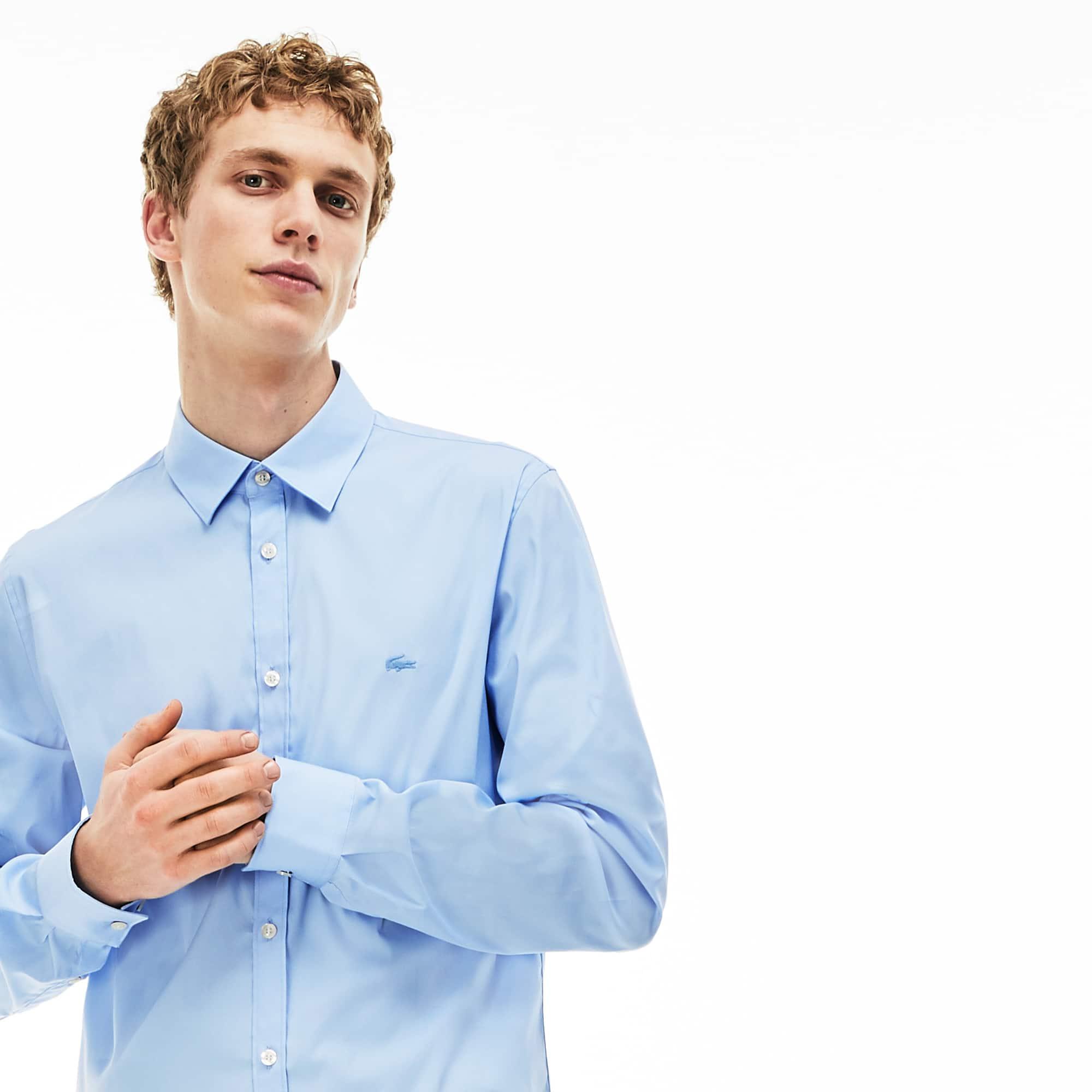 Men's Slim Fit Stretch Cotton Poplin Shirt