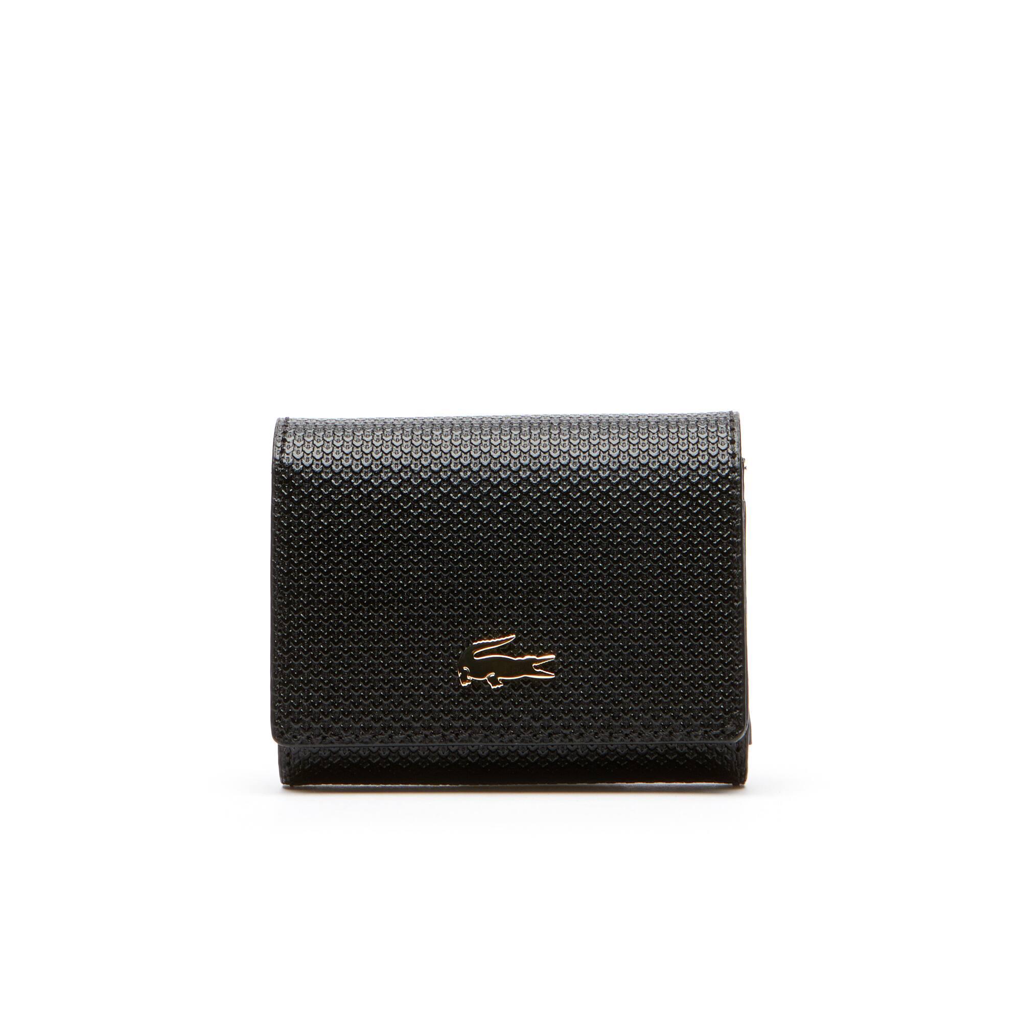 Women's Chantaco Bicolor Piqué Leather 3 Card Wallet