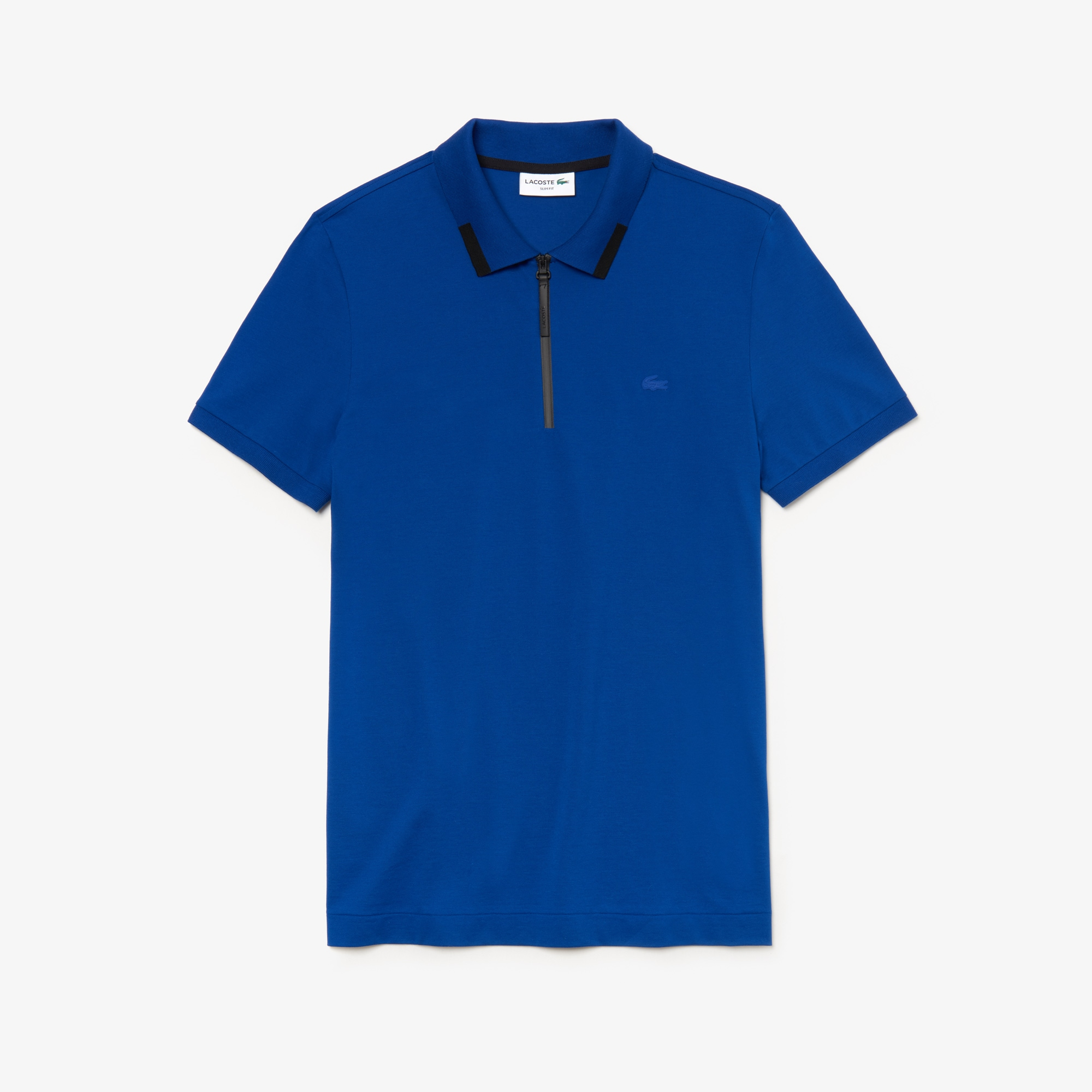 Men's Lacoste Motion Slim Fit Zip Collar Cotton Piqué Polo Shirt