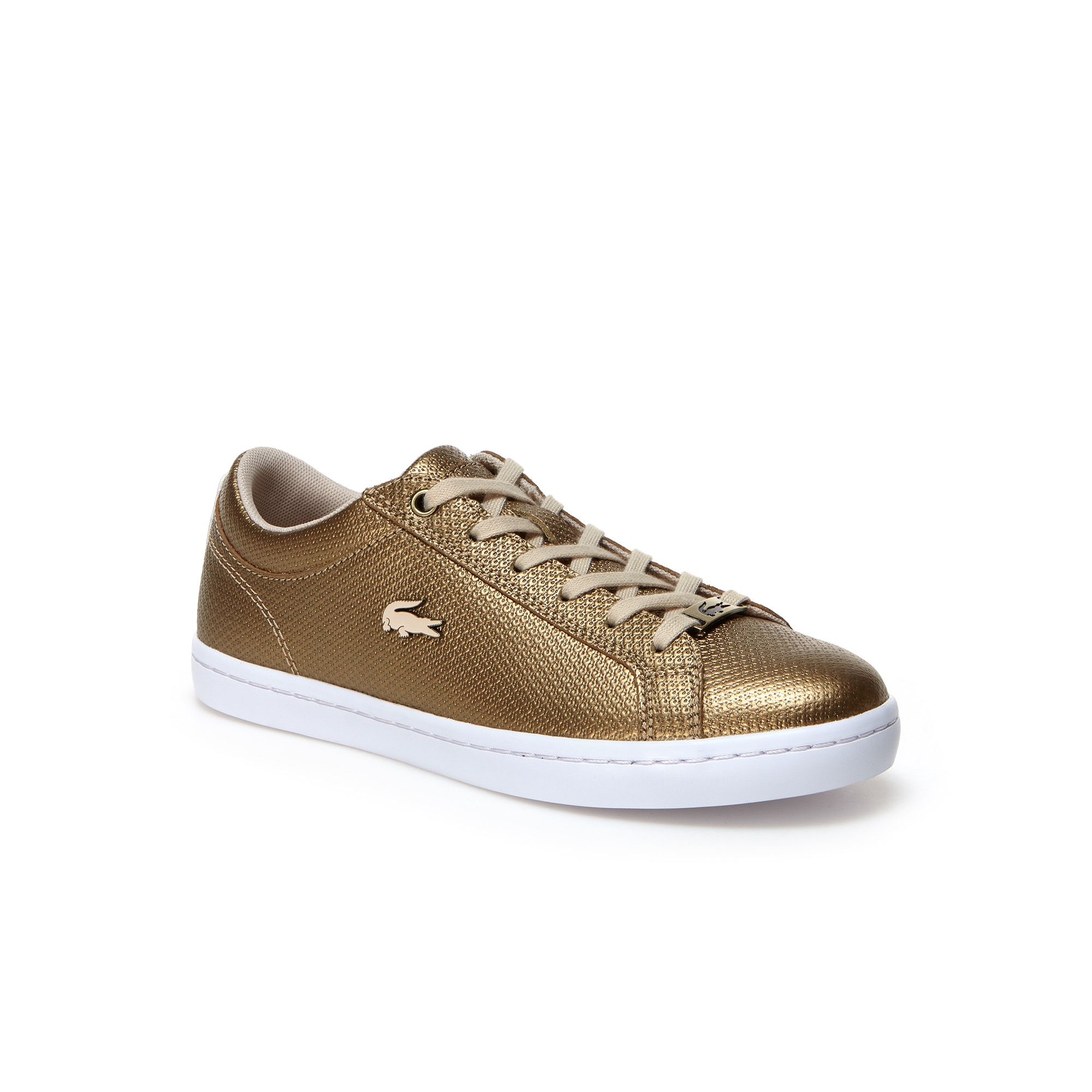 Women's Straightset Leather Trainers with Piqué mesh linings