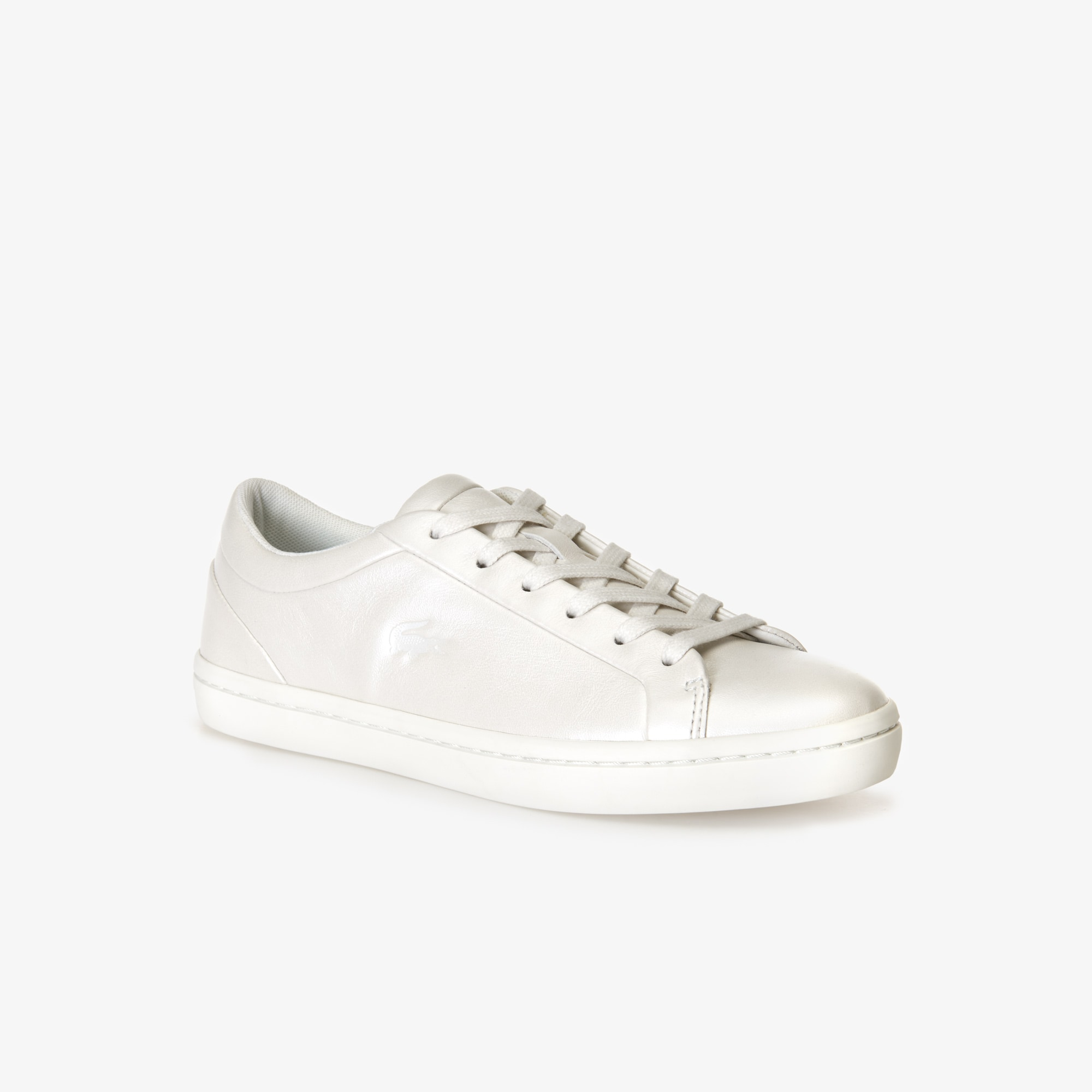 347789ef5 Women s Straightset Leather Trainers with Tonal Croc