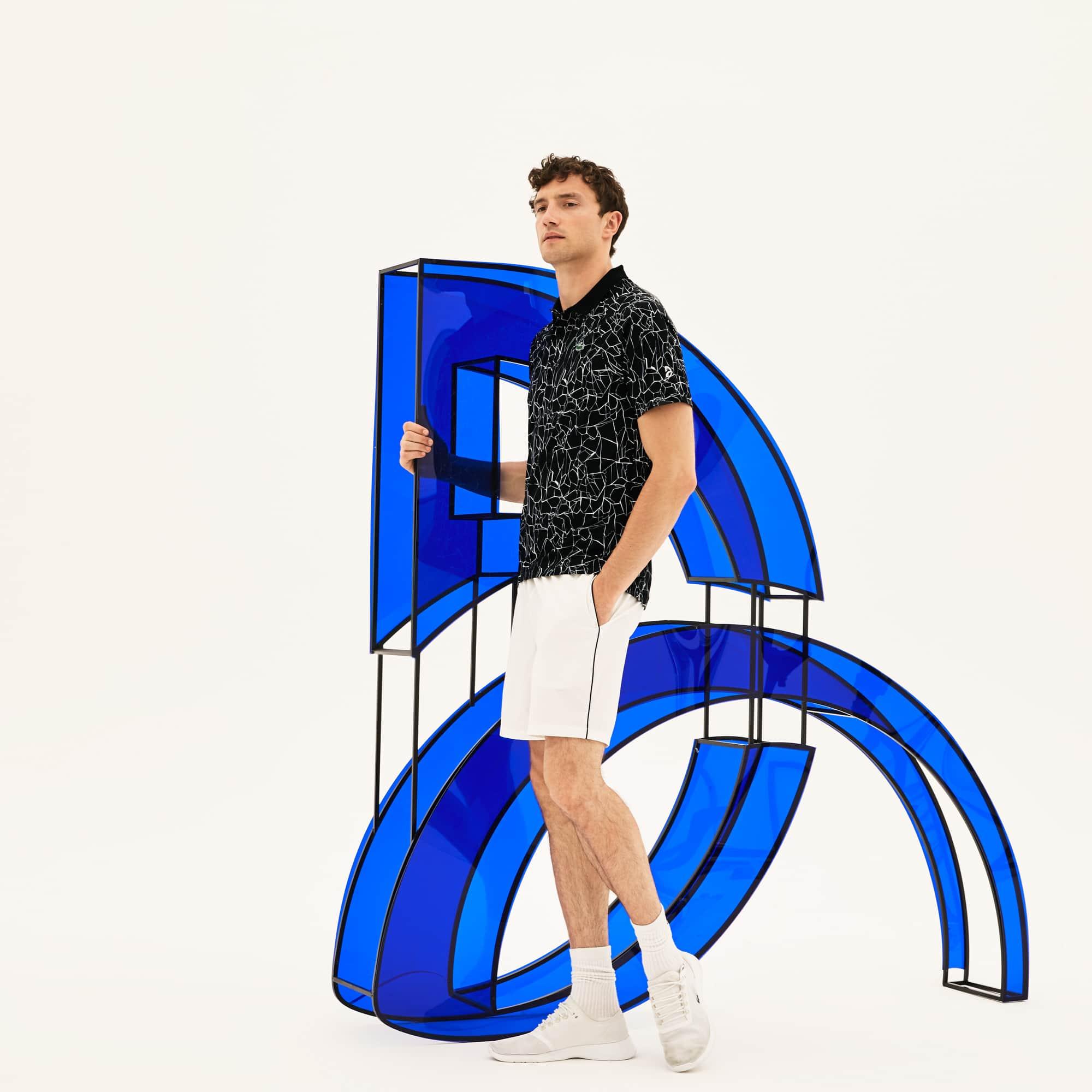 Men's Lacoste SPORT NOVAK DJOKOVIC-ON COURT COLLECTION Print Technical Jersey Polo Shirt