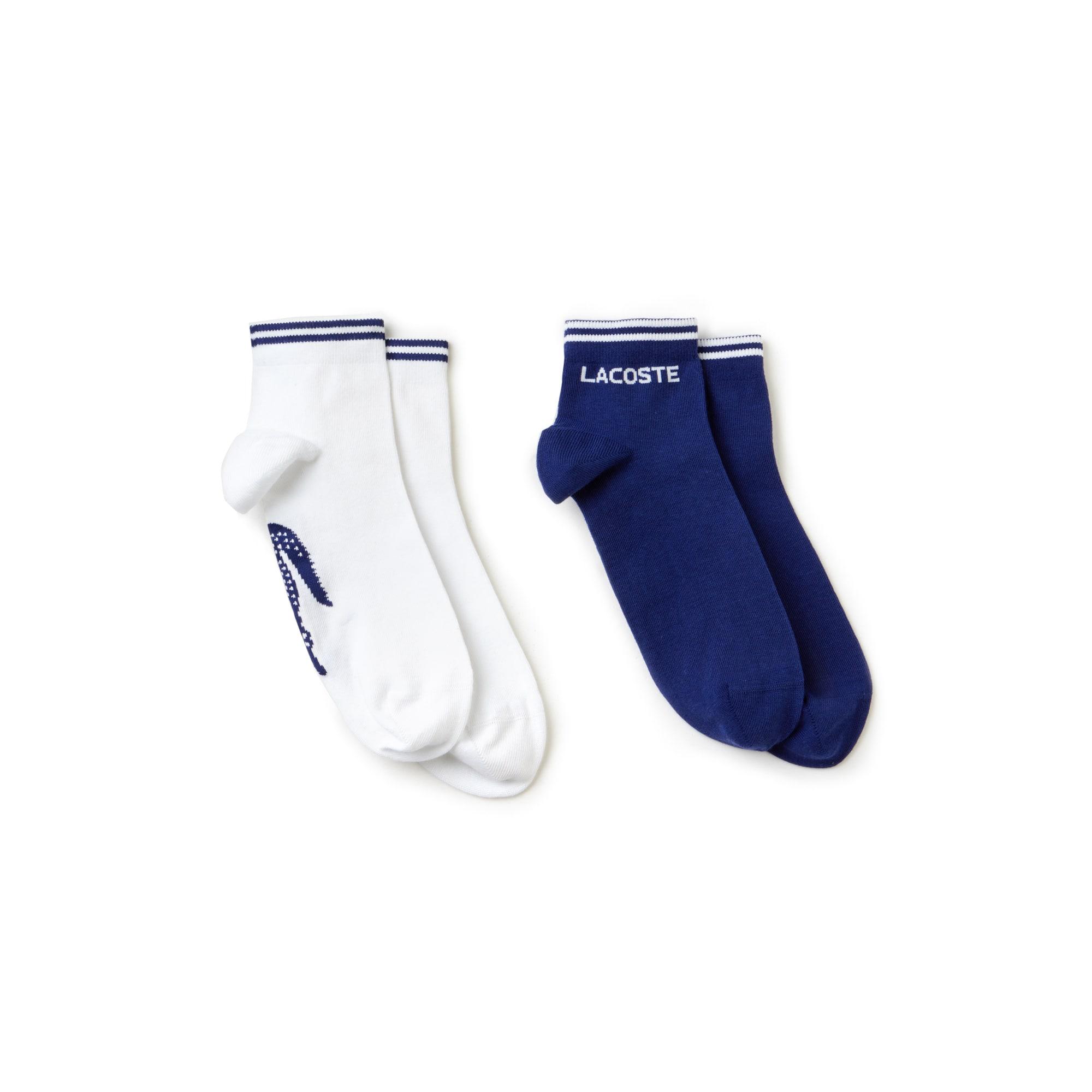 Men's Two-pack of Lacoste Tennis low-cut socks in jacquard jersey
