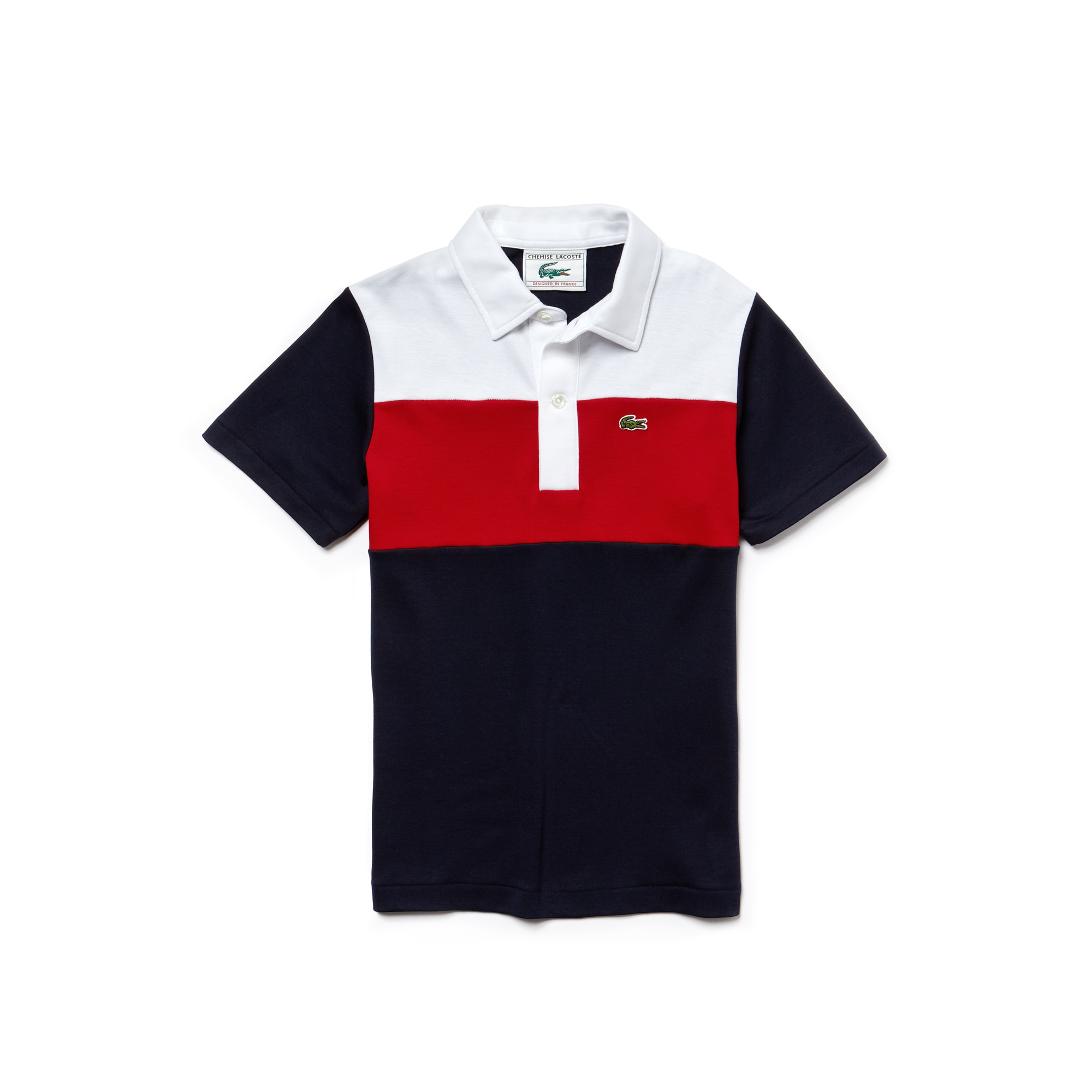 Boys' Lacoste 1970s revival 85th Anniversary Limited Edition Interlock Polo Shirt
