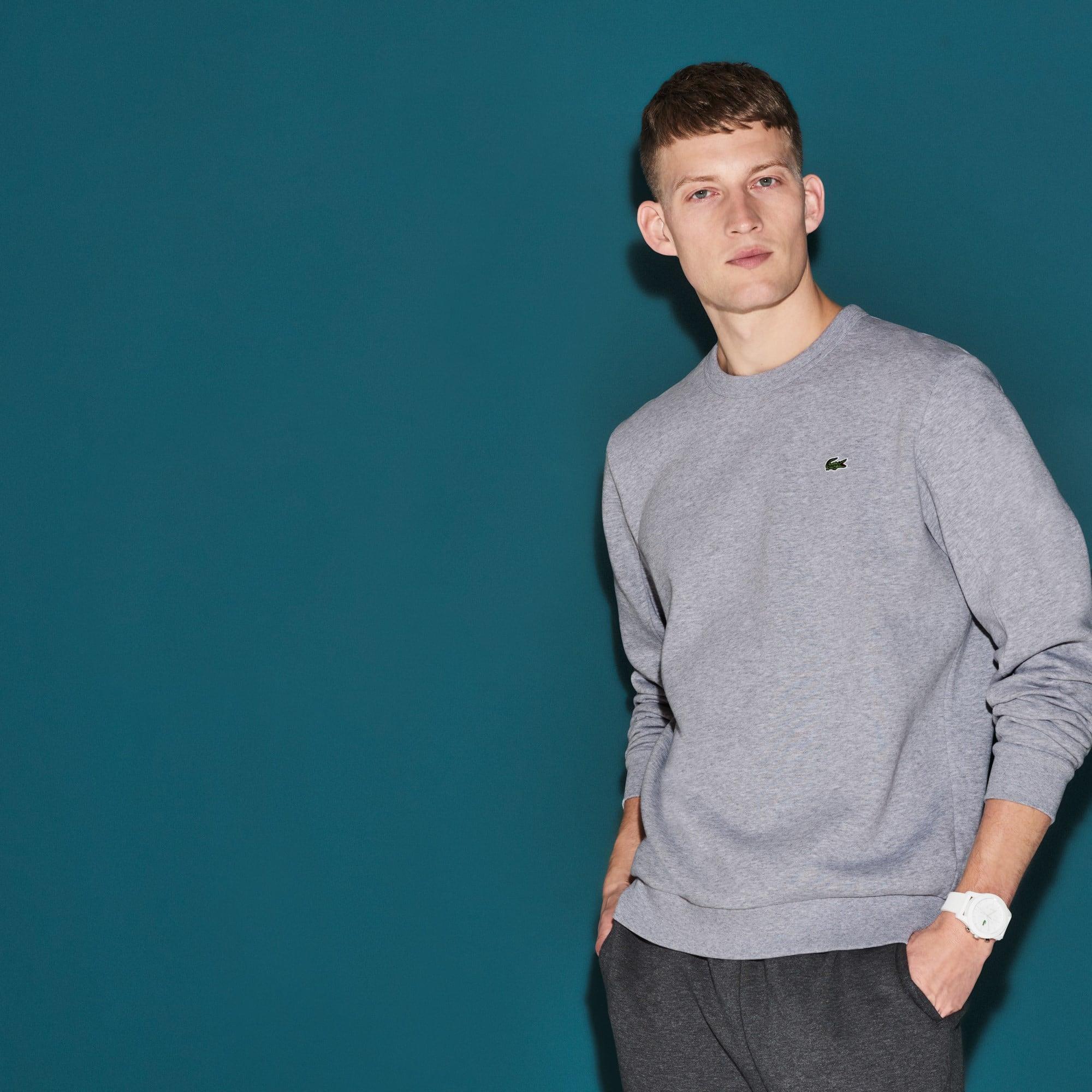 Men's Lacoste SPORT Side Zip Fleece Tennis Sweatshirt
